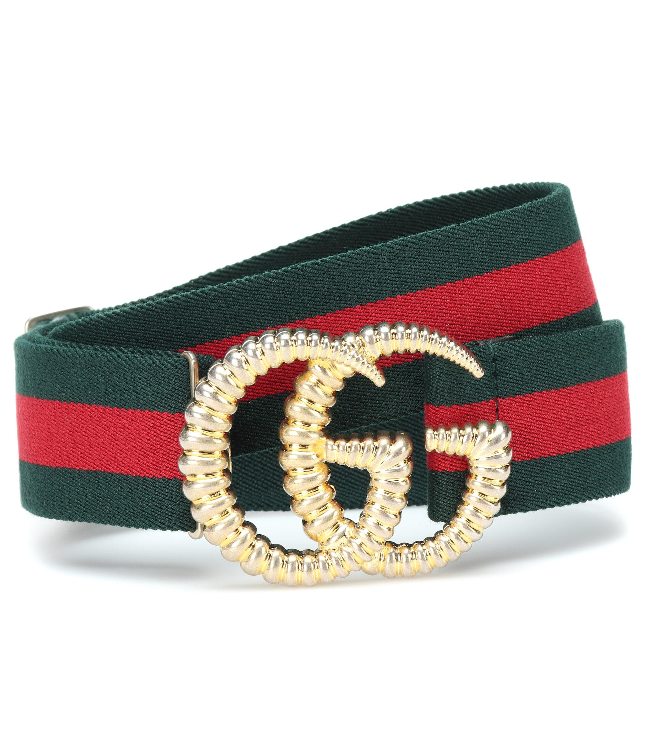 493be20fb92 Gucci - Multicolor GG Striped Web Belt - Lyst. View fullscreen