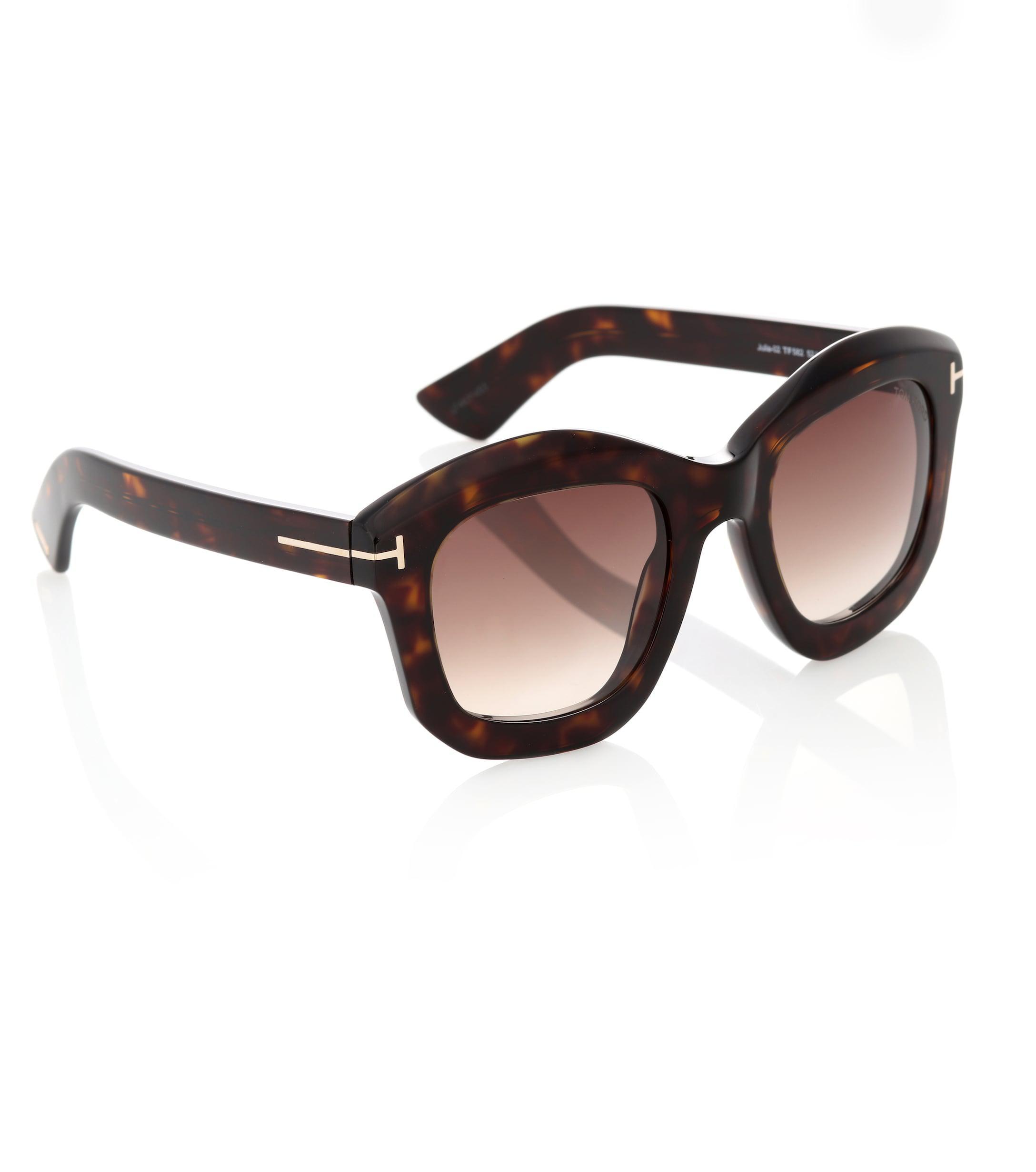 ee5c7cd0fe Gafas de sol cuadradas Julia Tom Ford de color Marrón - Lyst