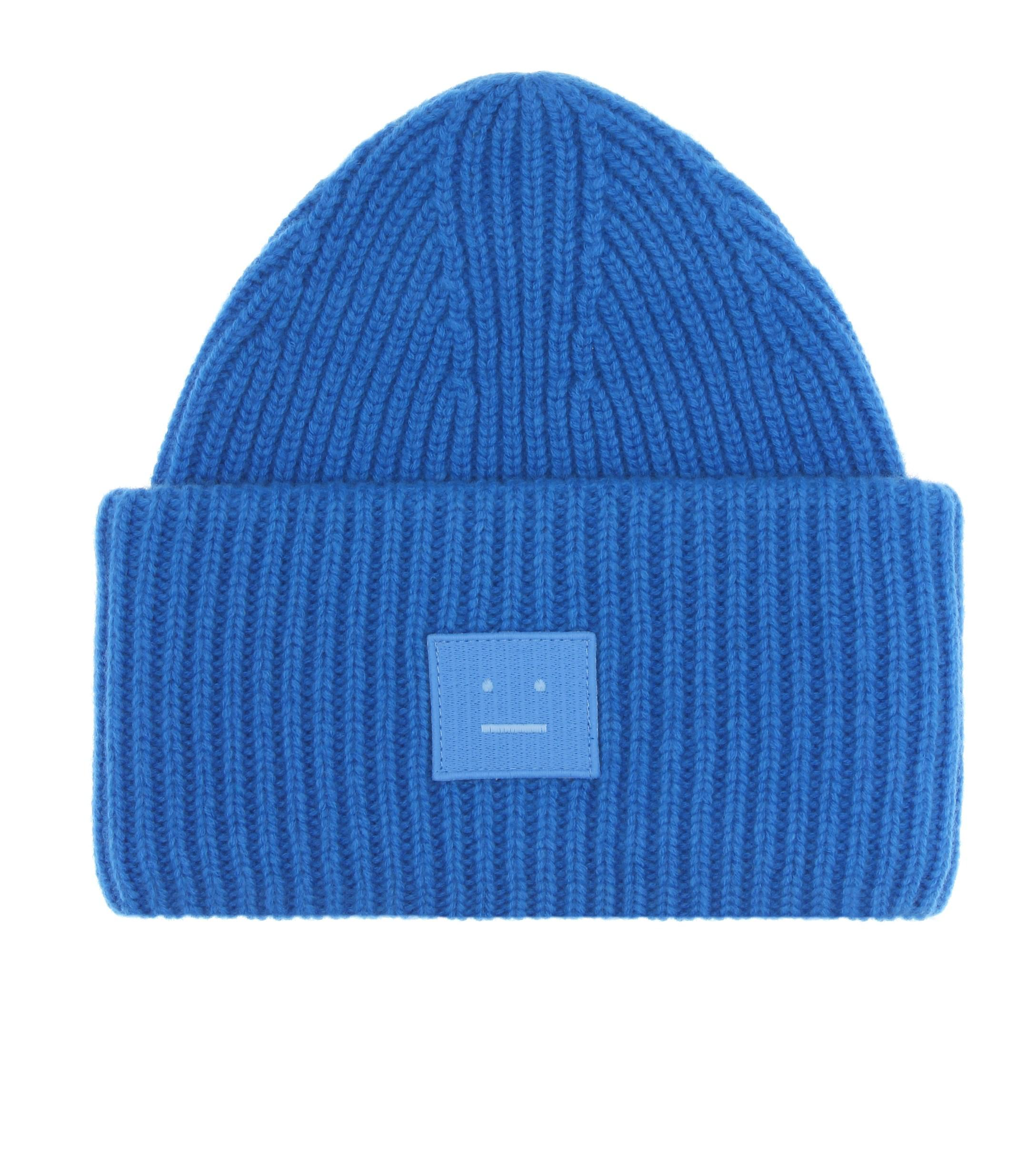 118a6f6cacb01f Acne Studios. Women's Blue Pansy N Face Wool Beanie