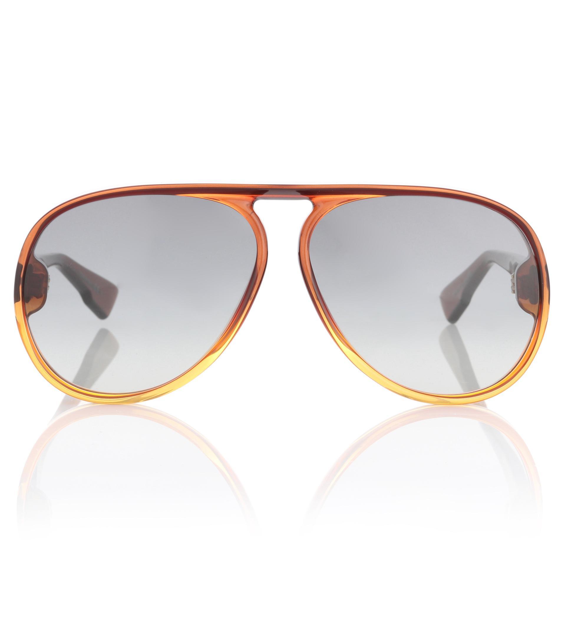 5cb499d3e6b Dior Diorlia Aviator Sunglasses in Brown - Lyst