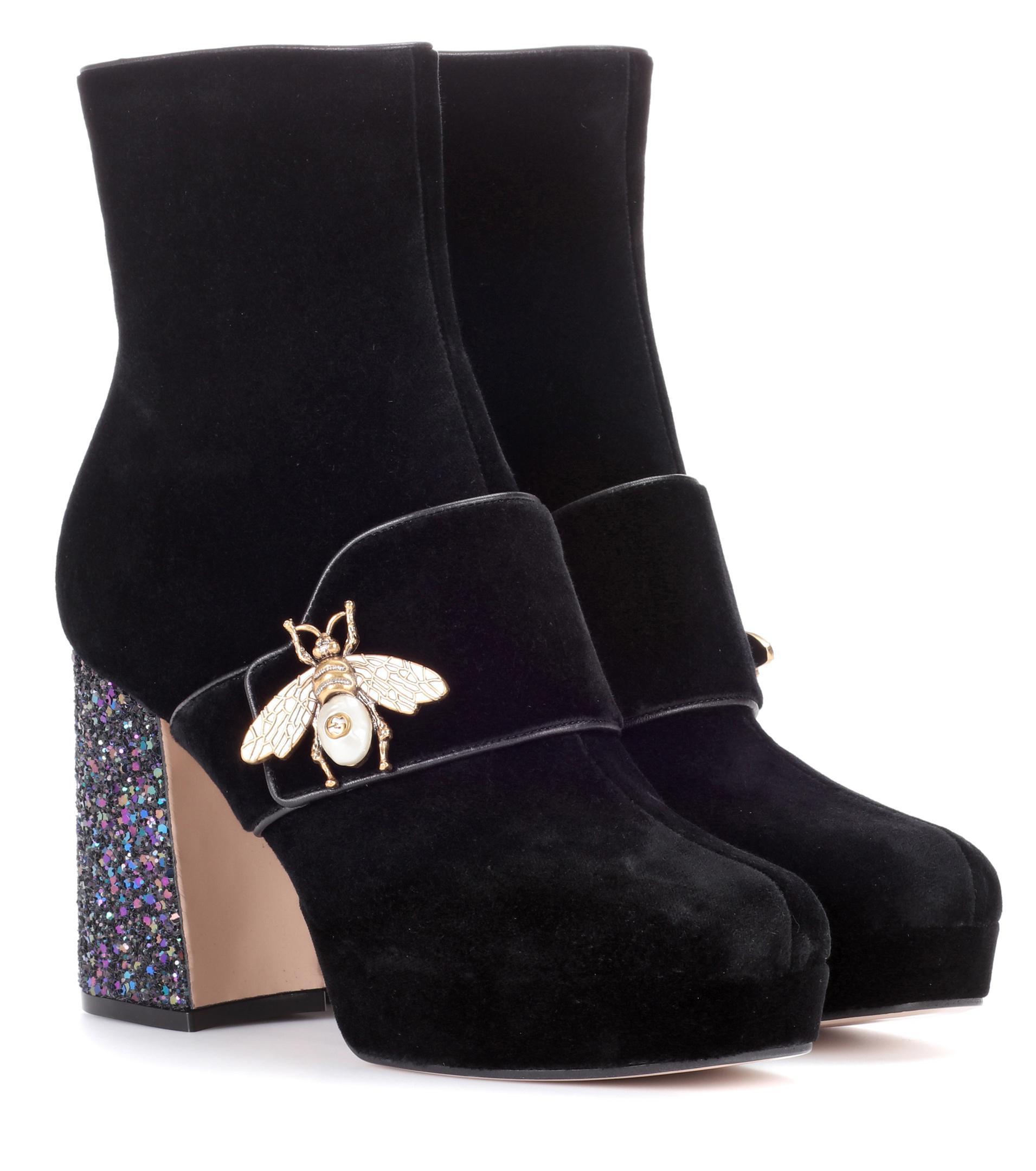 8Yi6ZQM85W Velvet Ankle Boots LRCiyY7
