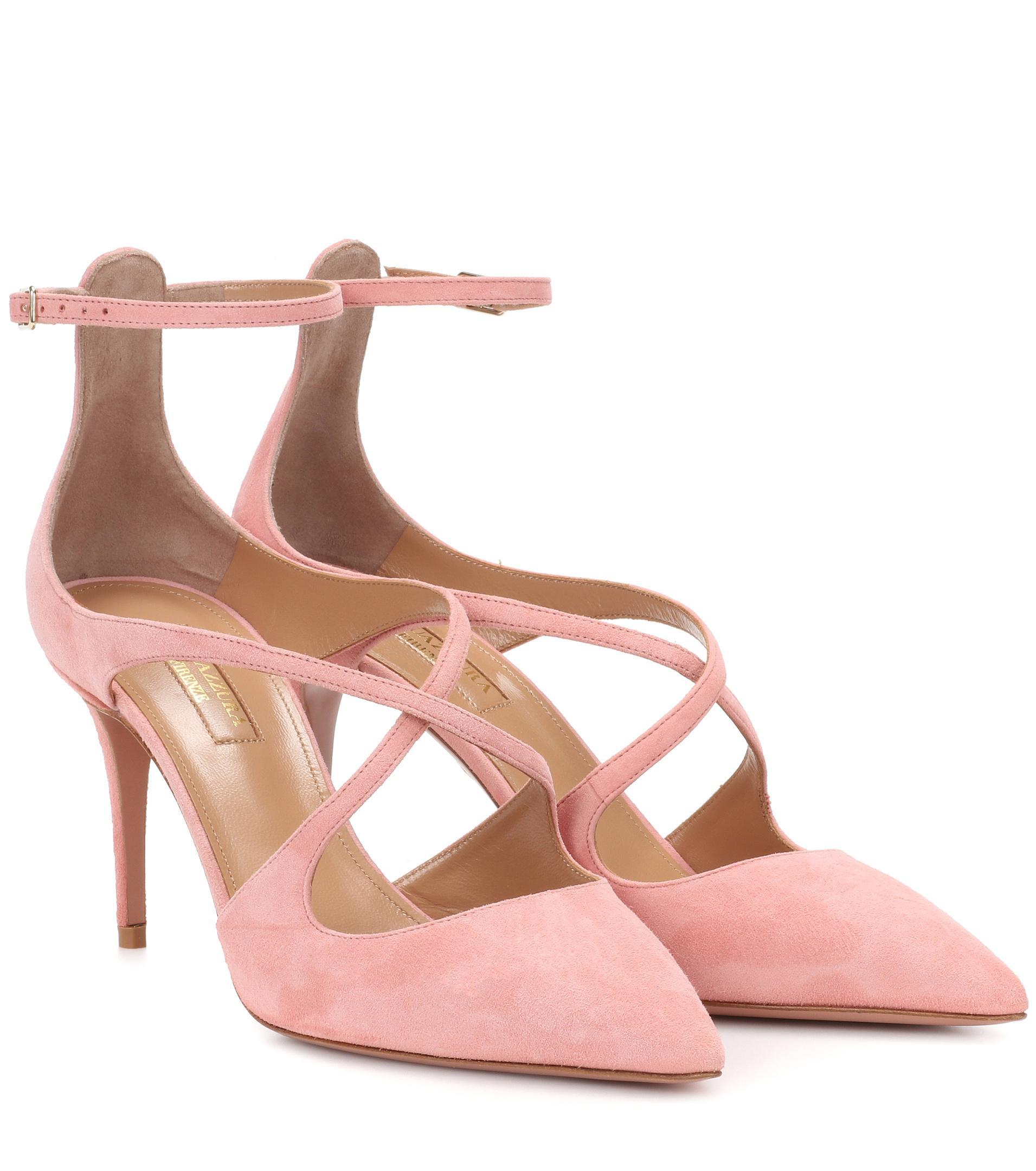 Viviana Suede Pumps - Pink Aquazzura L6g7GeM