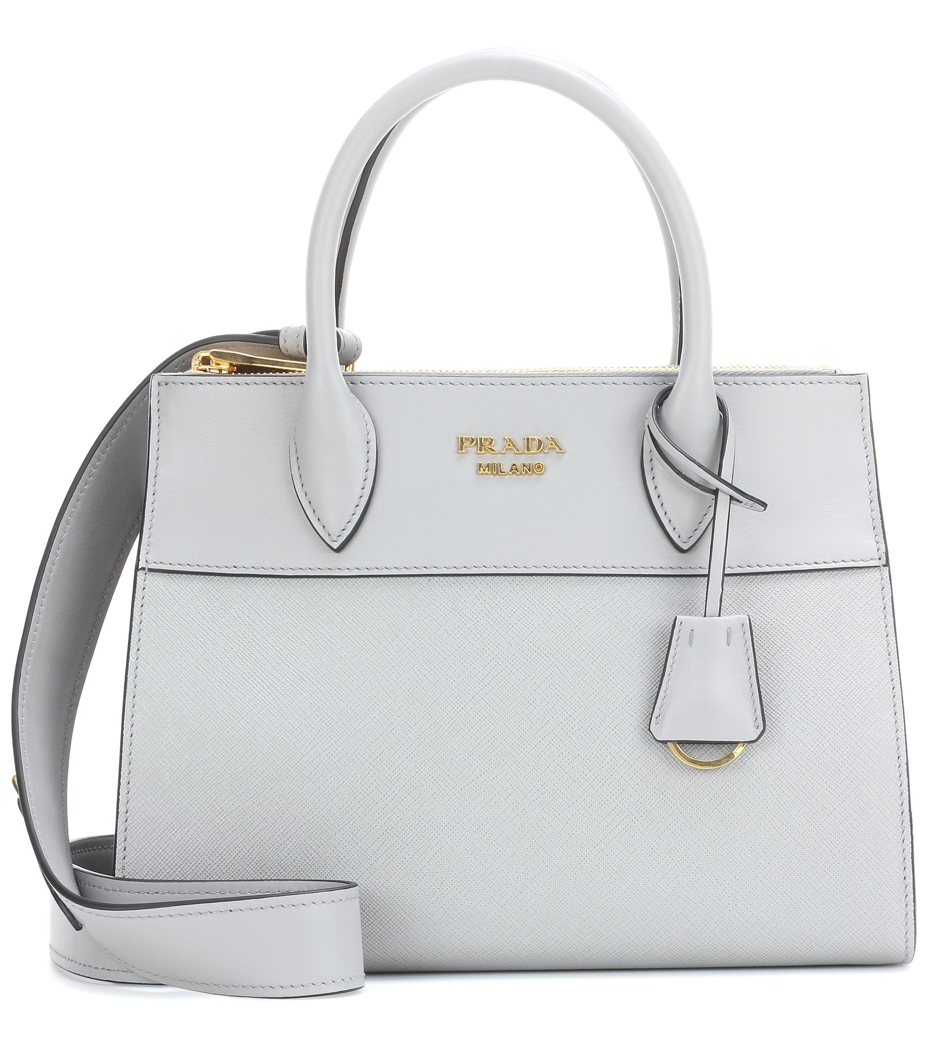 0803764863f6 Prada Paradigme Leather Handbag in Gray - Lyst