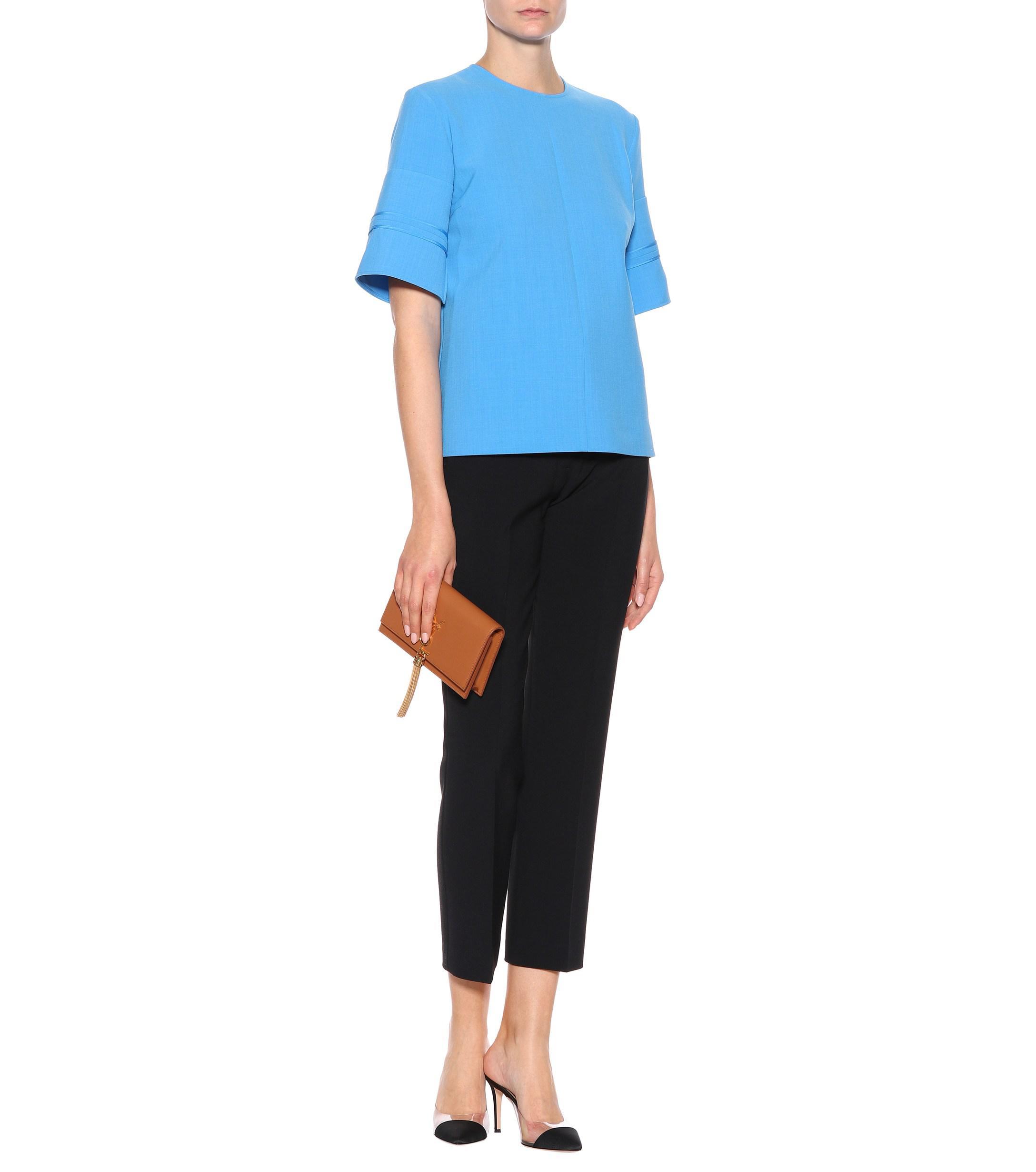 Victoria Beckham T Crêpe Blue Shirt Victoria Lyst In 4CEdqvC