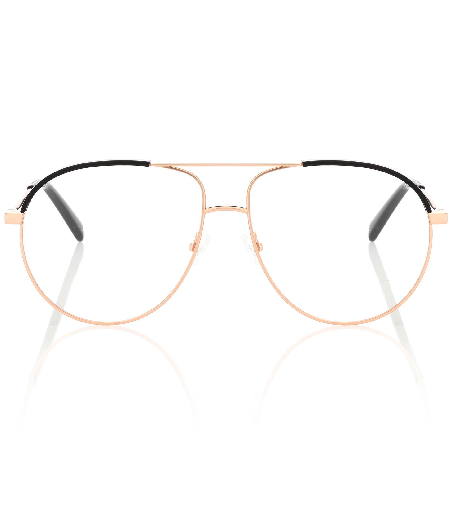 926b666cf8679 Lyst - Stella McCartney Aviator Glasses in Metallic