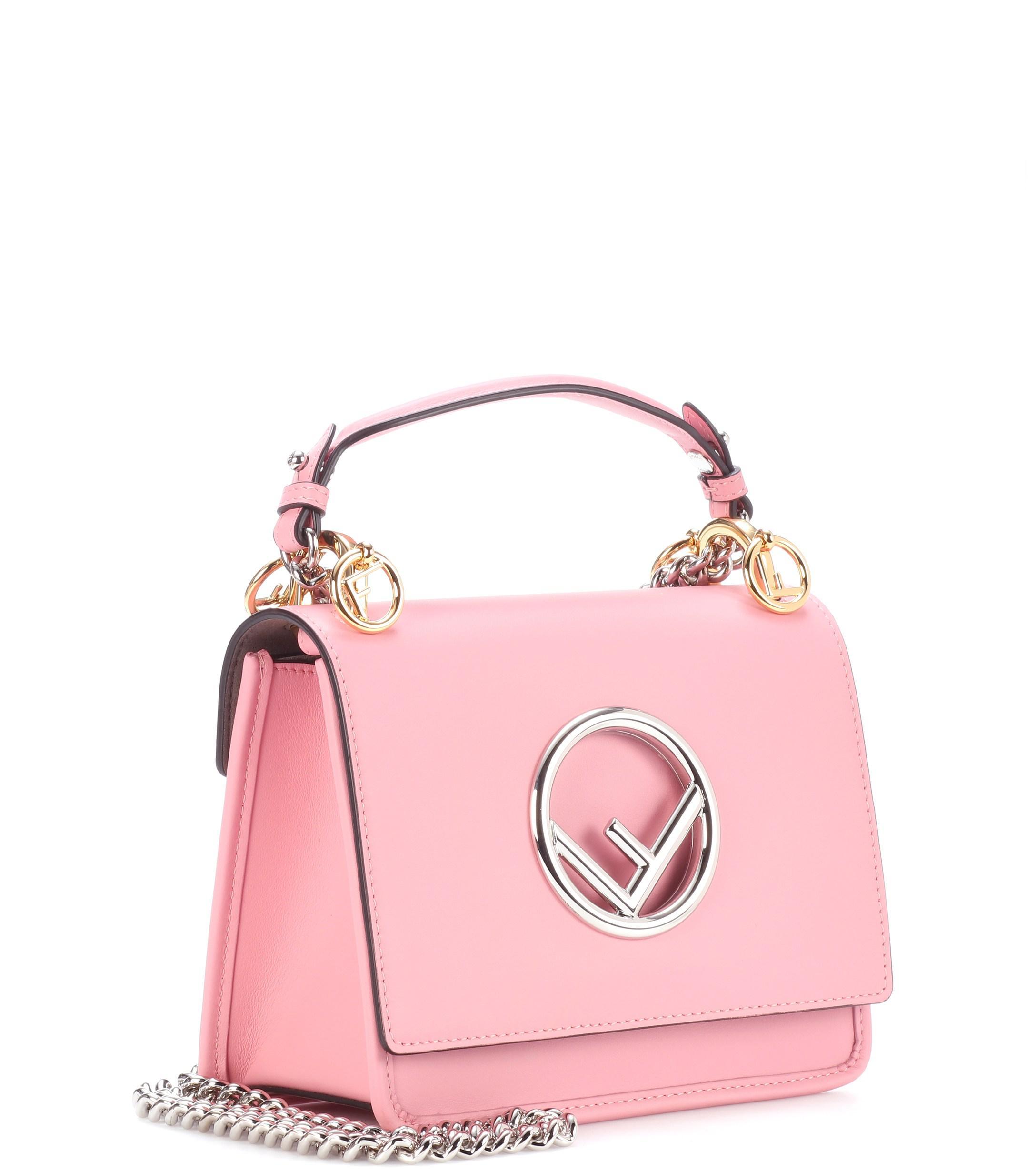 Lyst - Fendi Exclusive To Mytheresa.com – Kan I F Mini Leather ... 256be11f2ad97