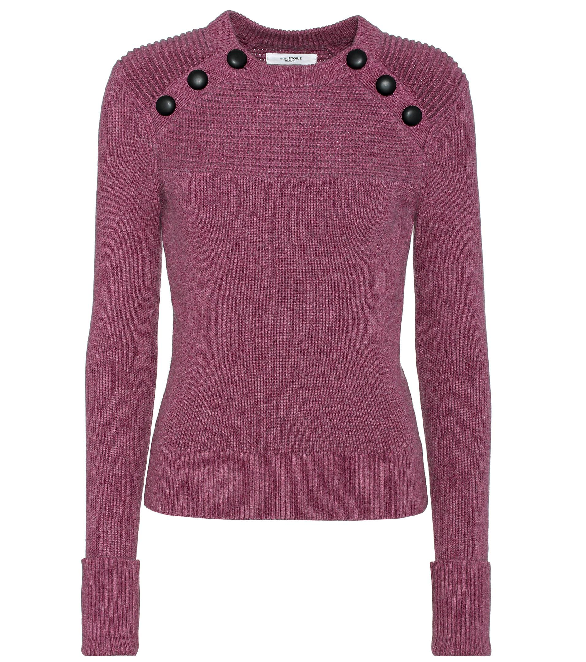 Étoile isabel marant Koyle Cotton And Wool Sweater in Purple | Lyst