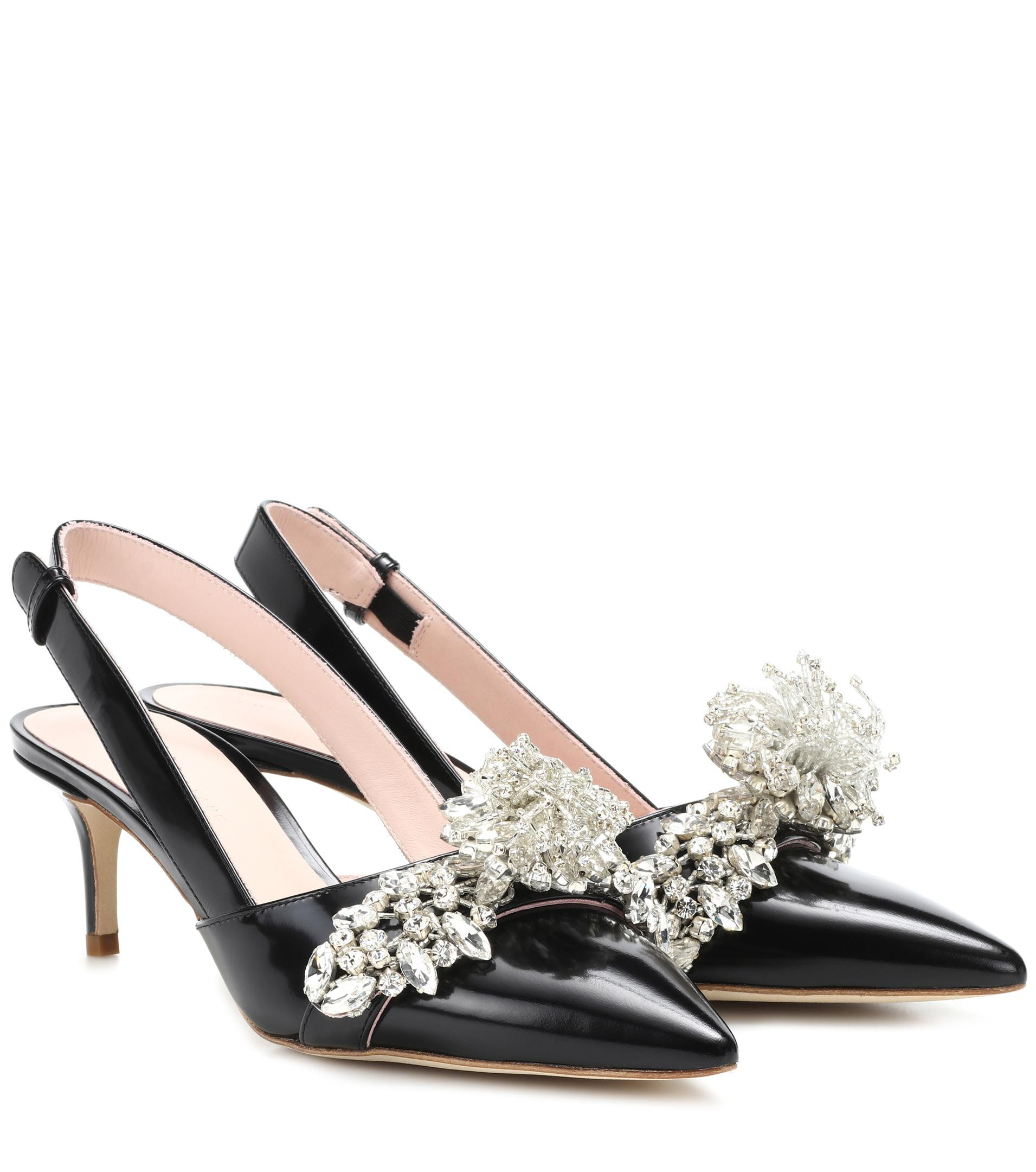 Cheap Footlocker Cheap Sale Footaction Christopher Kane Embellished leather slingback pumps Cheap Original Shopping Online For Sale 2OTusjDqxr