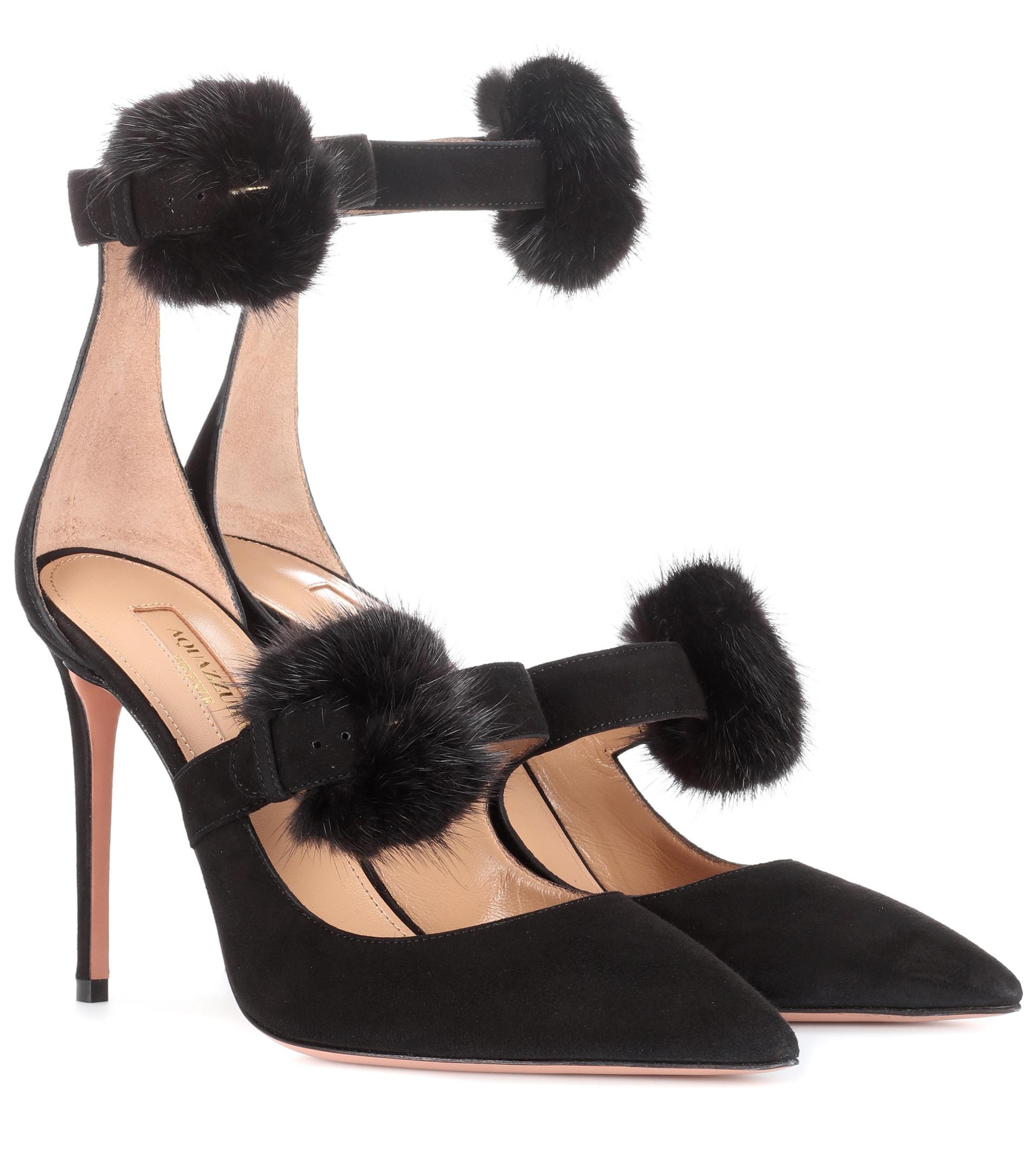 Clearance Exclusive From China Sale Online Aquazzura Sinatra 105 suede pumps ihQzW