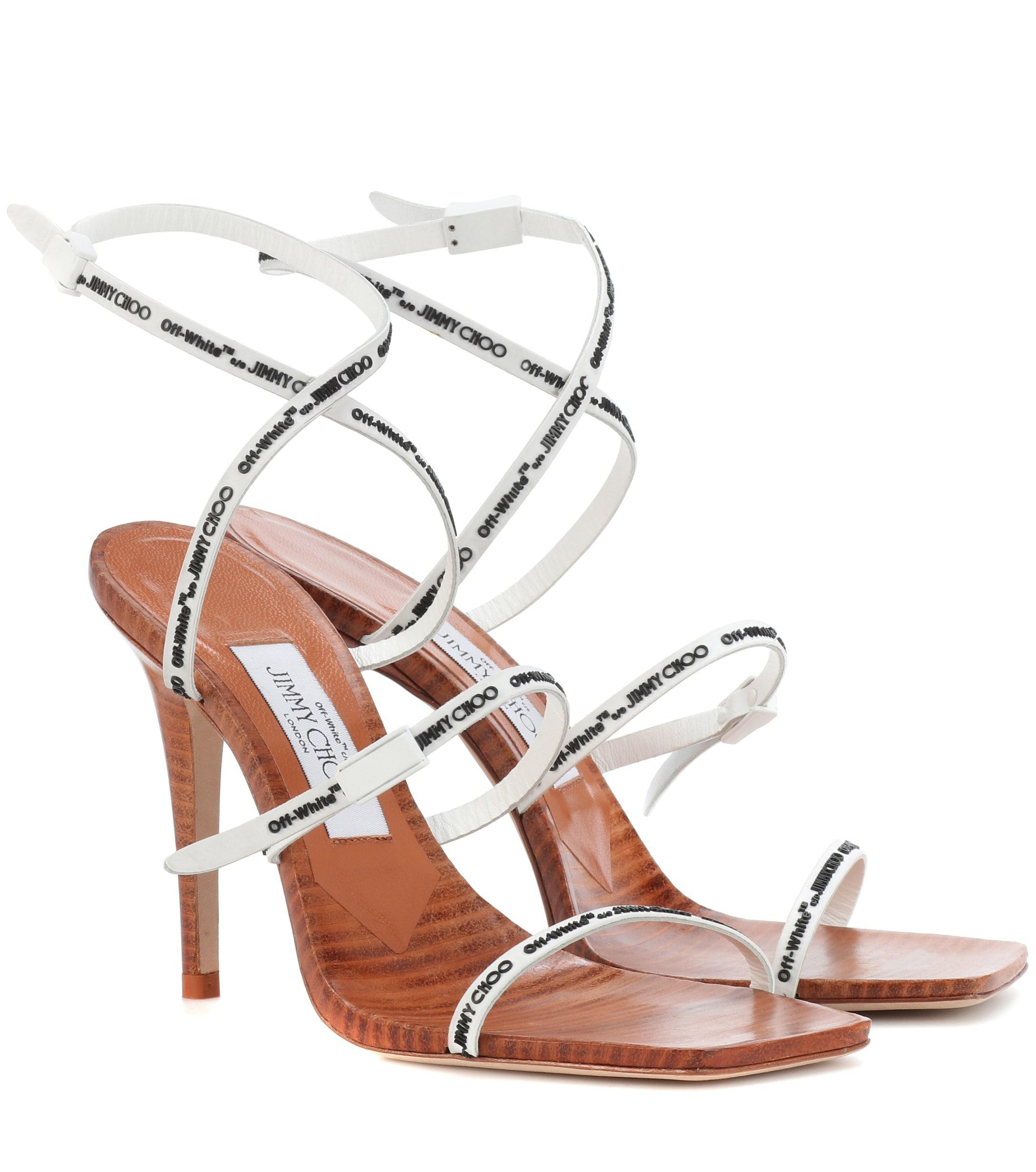 61fd481fc66 Lyst - Jimmy Choo X Off-white Jane 100 Sandals in White