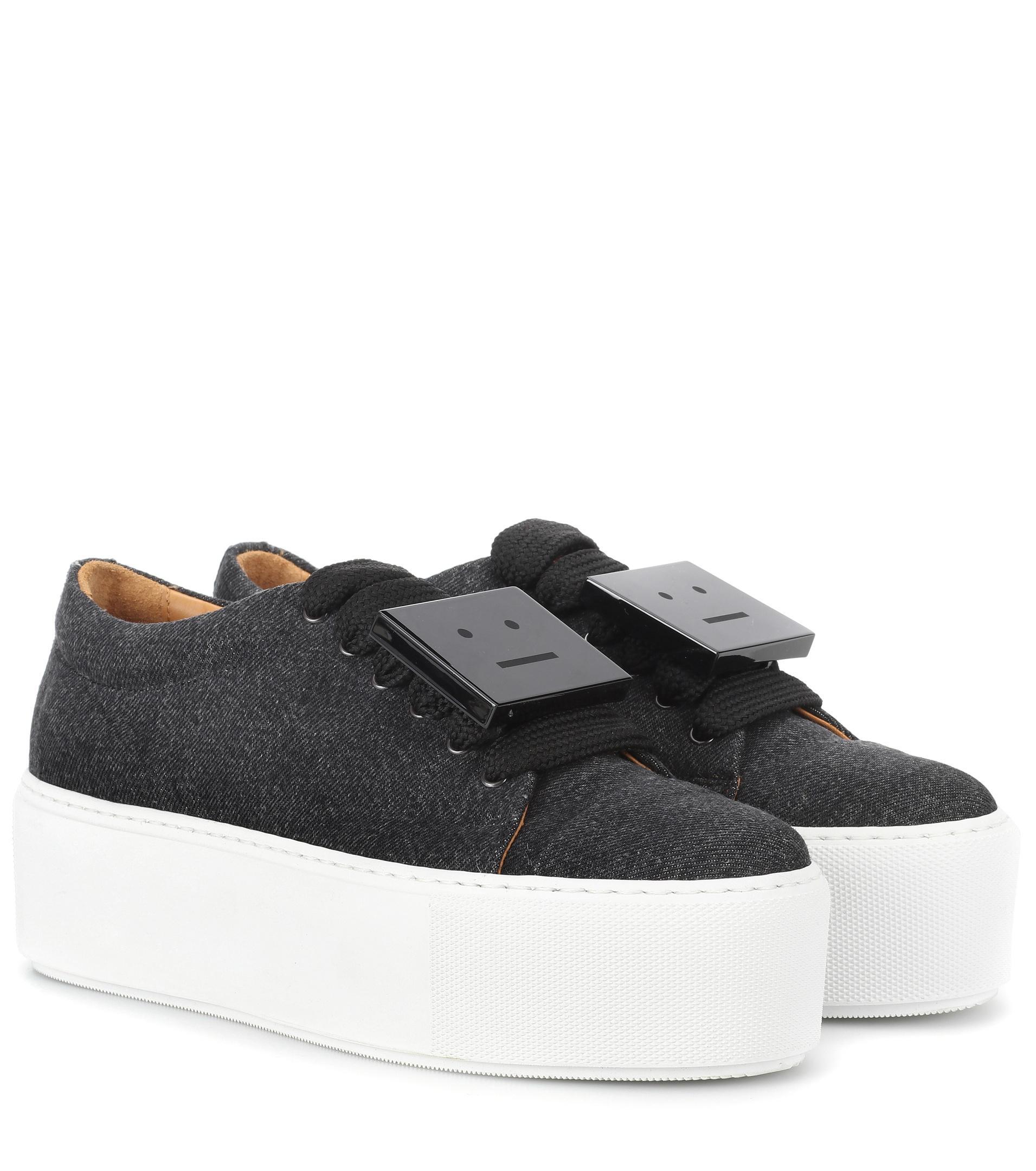 black Drihanna 55 washed denim sneakers Acne Studios h9f8U3kp2Z