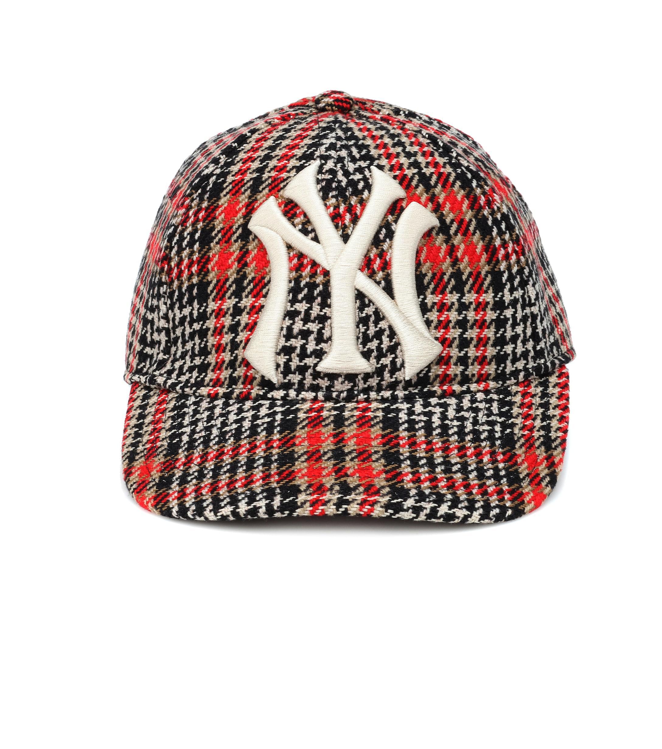 6eff42badc347 Gucci - Multicolor Ny Yankees Houndstooth Baseball Cap - Lyst. View  fullscreen