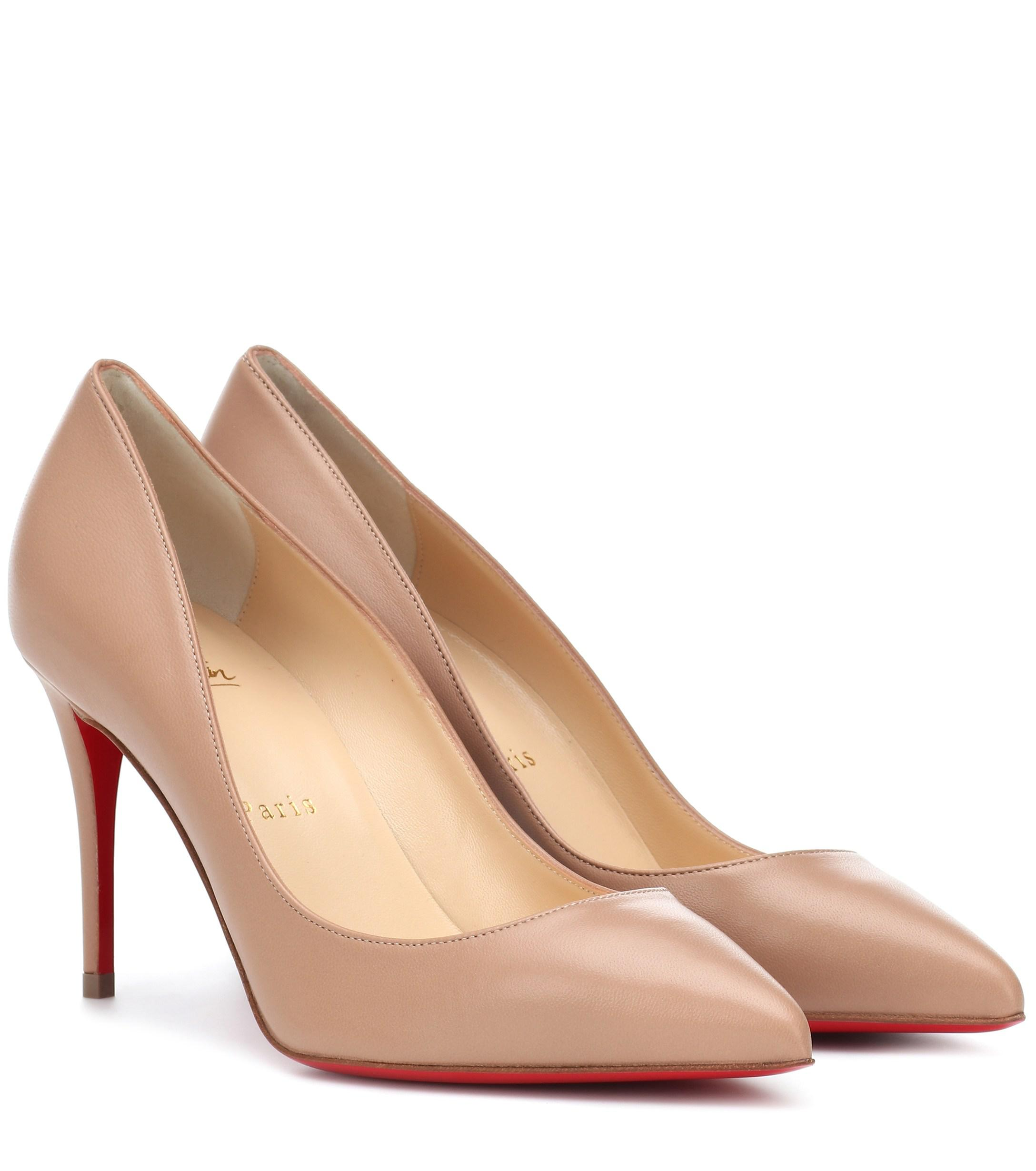 1c9e5dcdc2a Christian Louboutin Pigalle Follies 85 Leather Pumps in Natural - Lyst