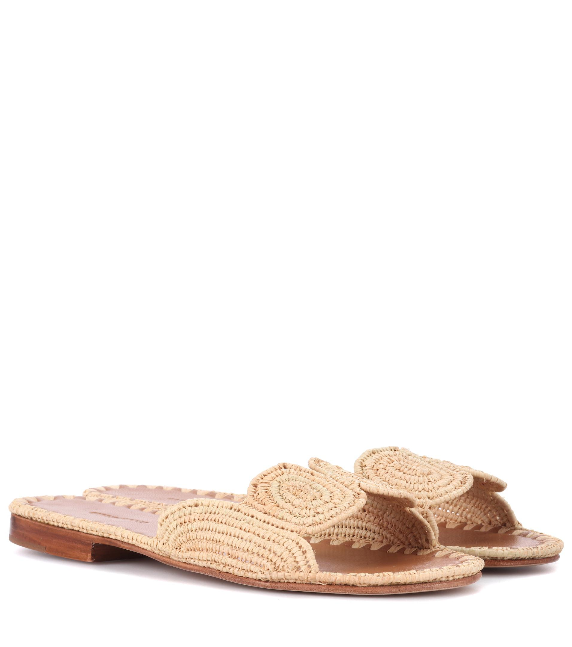 footlocker sale online clearance 2014 newest Carrie Forbes Raffia Slide Sandals cheap real authentic free shipping factory outlet eastbay cheap online sVJLl