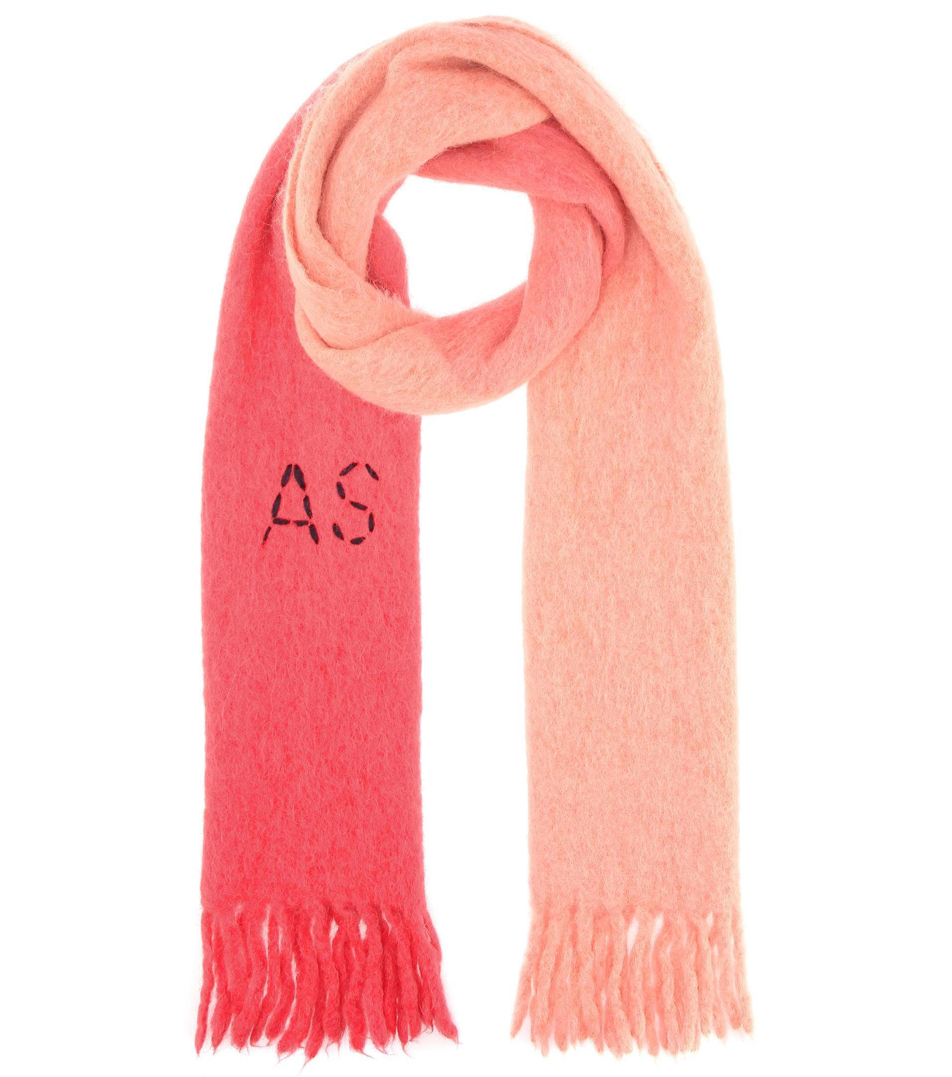 67a1cbd8207b Lyst - Écharpe en alpaga, laine et mohair Acne en coloris Rose