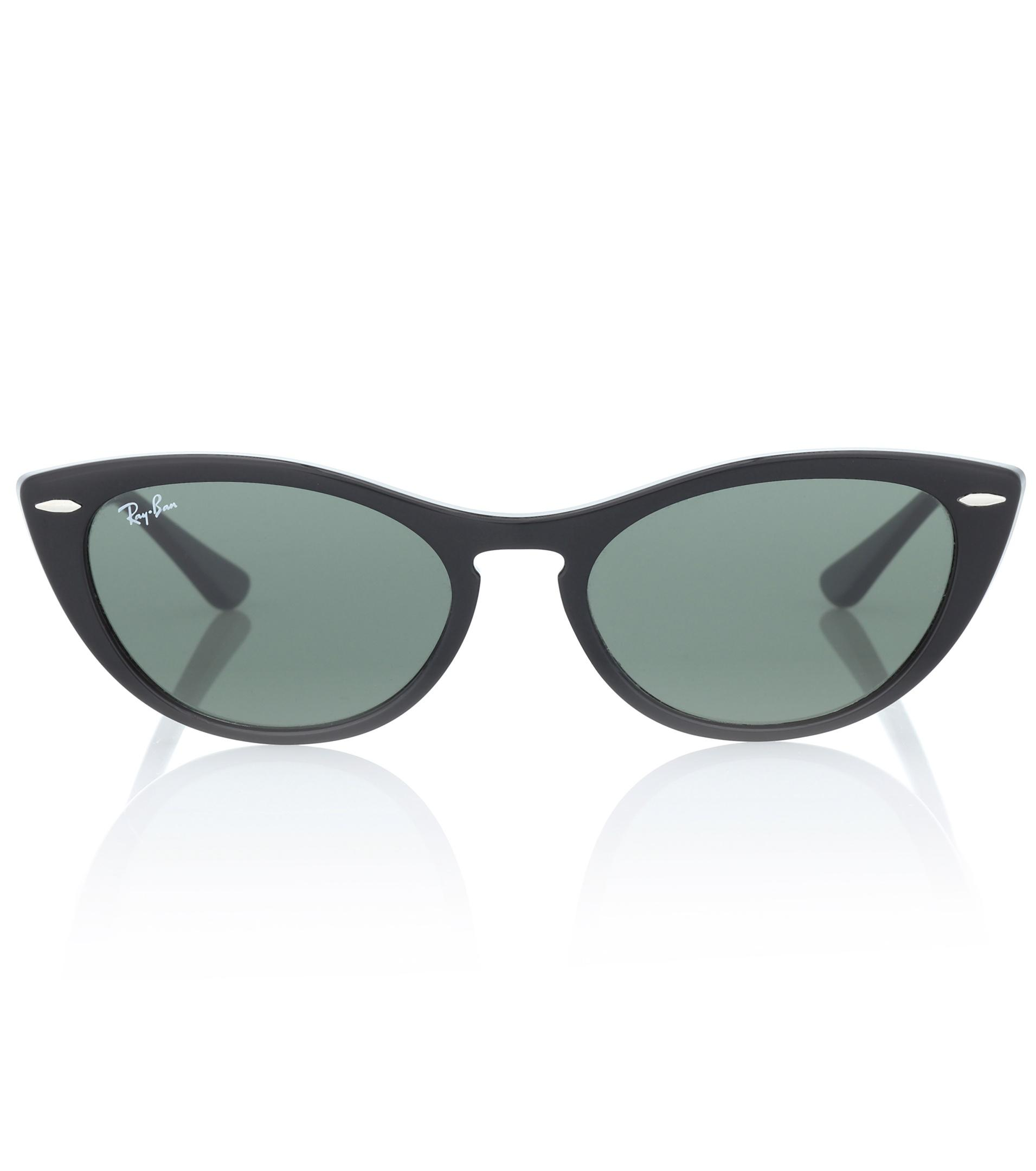 762dc8f60ac Lyst - Ray-Ban Nina Cat-eye Acetate Sunglasses in Black