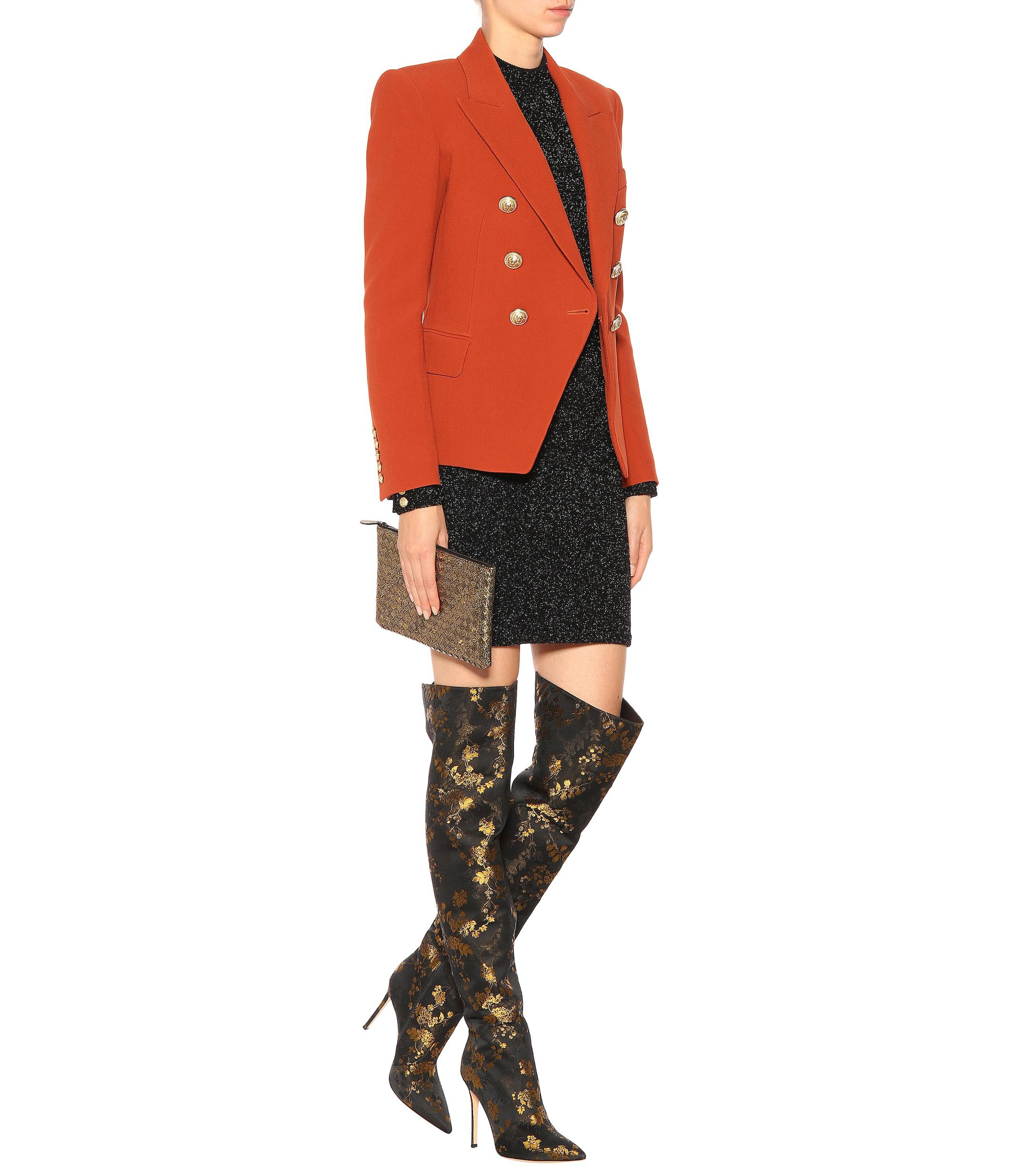 ee3b428094e Gianvito Rossi - Black Rennes Jacquard Over-the-knee Boots - Lyst. View  fullscreen