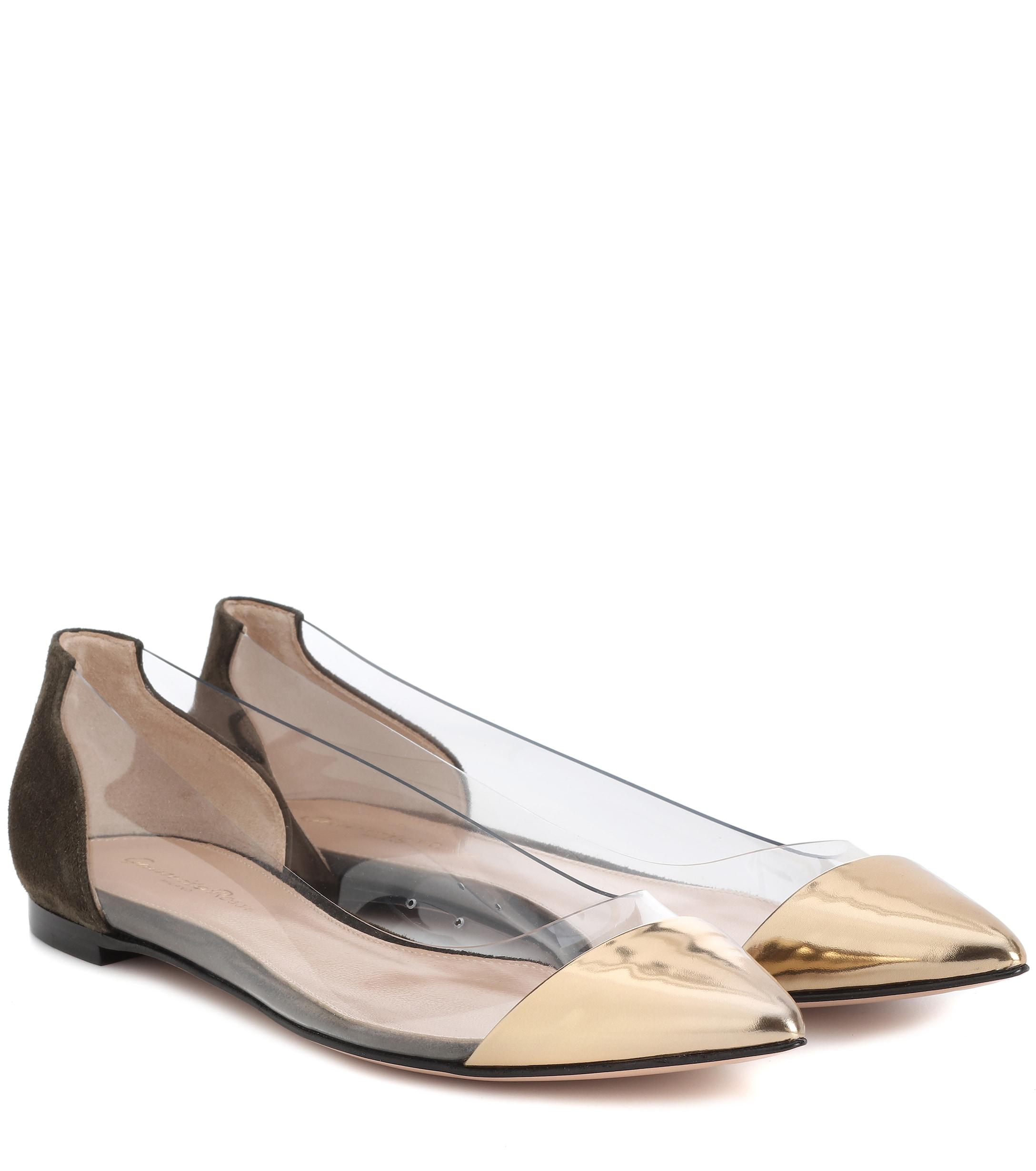 bd07e6dfded gianvito-rossi-mekongtrasparentdark-olive-Exclusive-To-Mytheresacom-Plexi-Leather-And-Suede-Ballerinas.jpeg