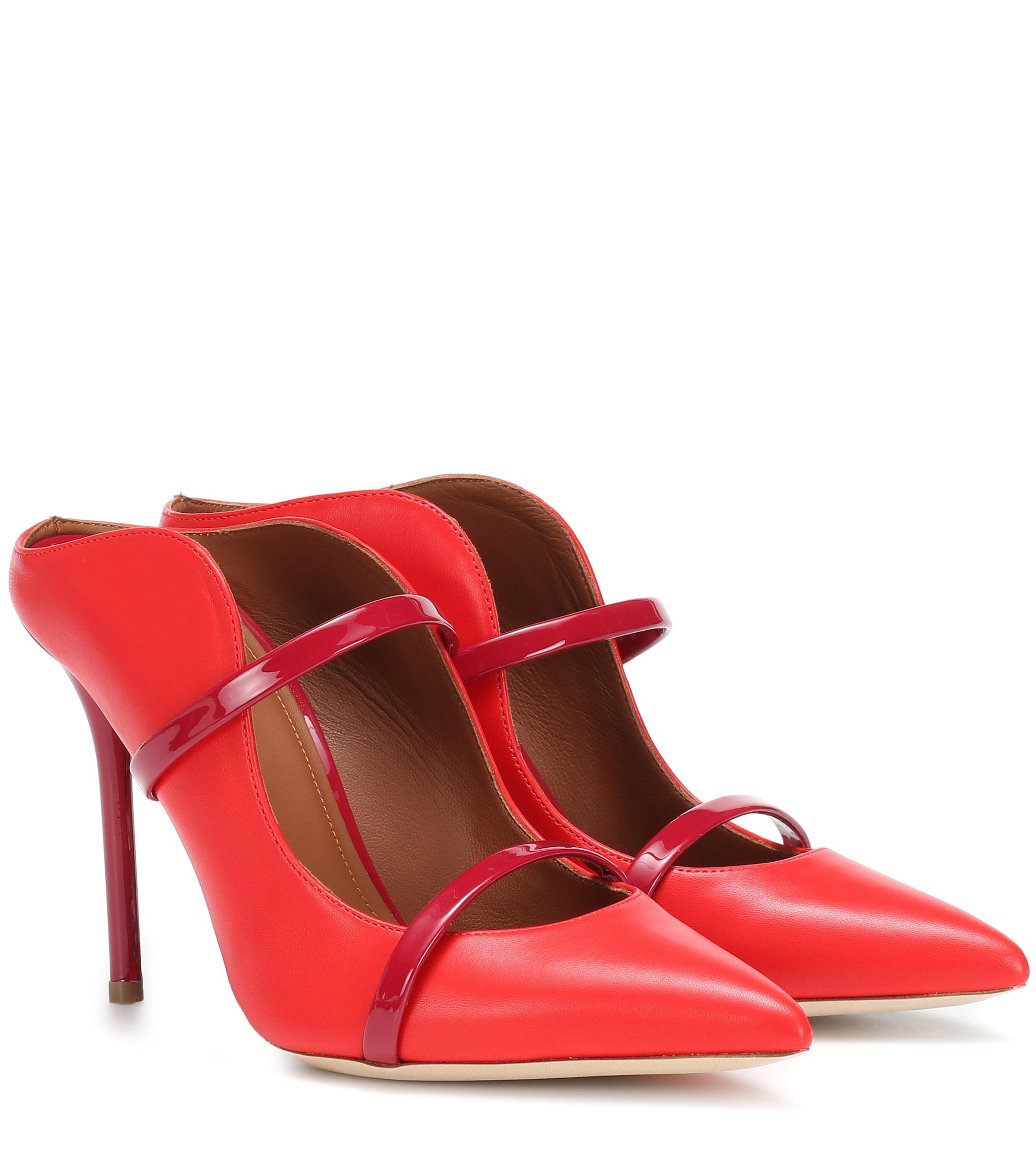 4819f23fd472 Malone Souliers Maureen 100 Leather Mules in Red - Lyst