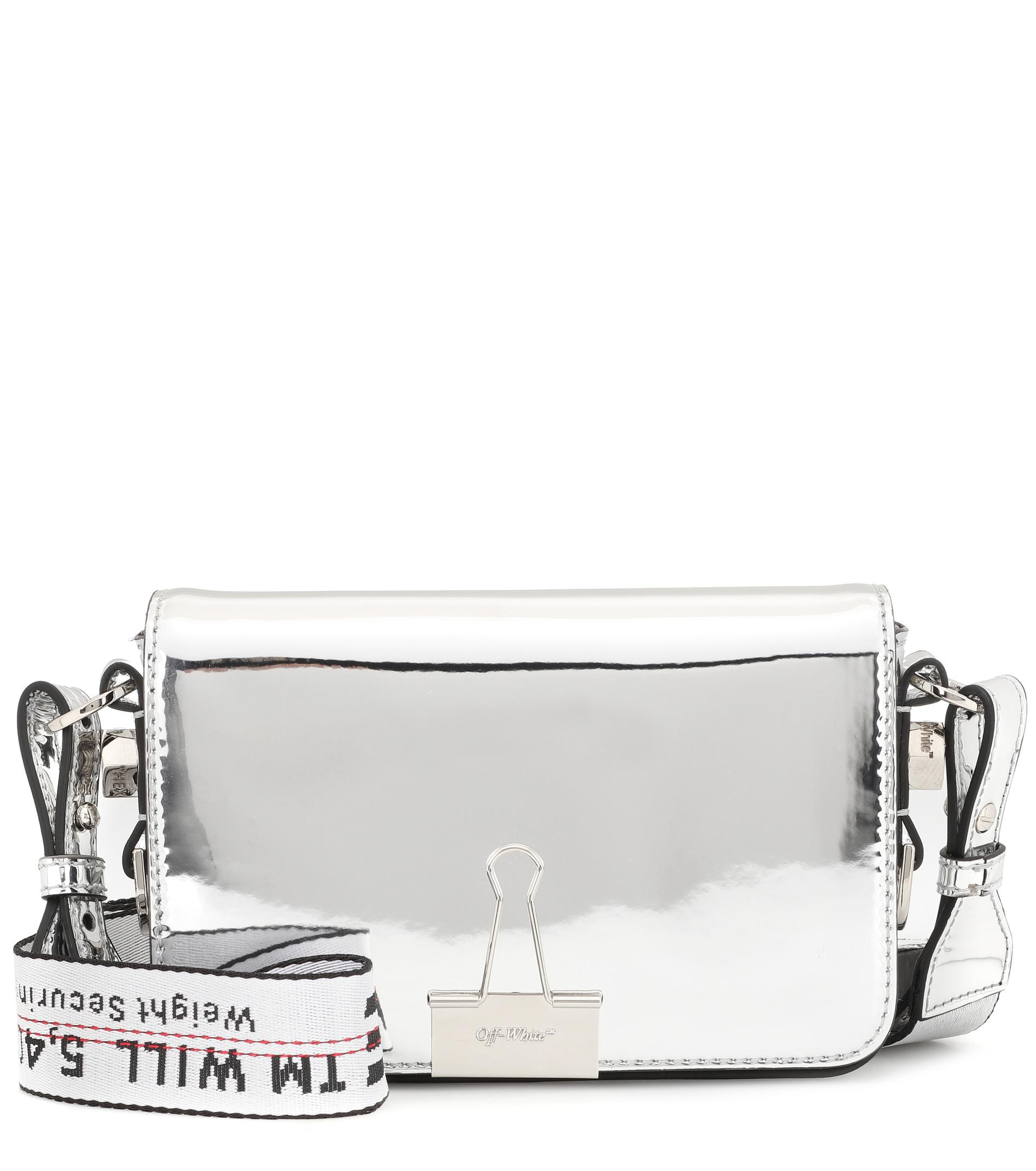 Off-white mini metallic crossbody bag vU0OdCWq