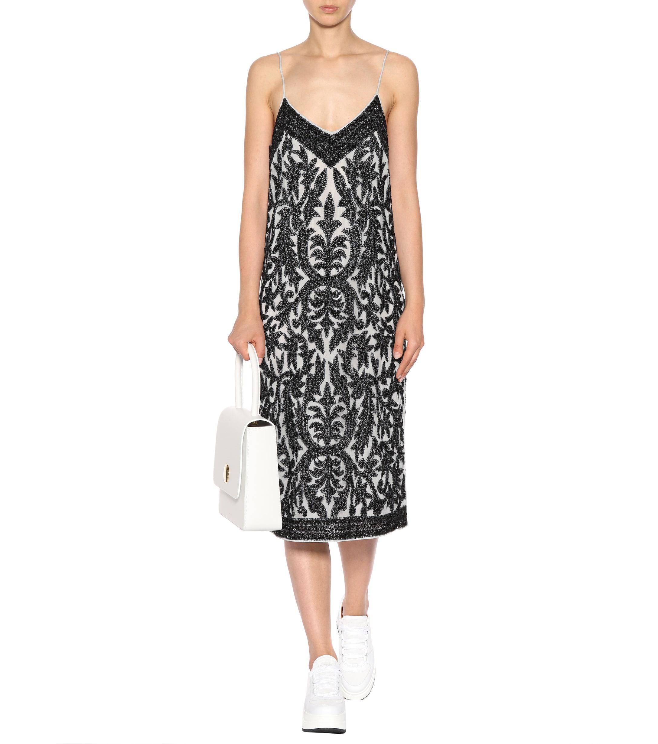 ccc7d54e Lyst - Ganni Colby Sequinned-tulle Slip Dress in Black