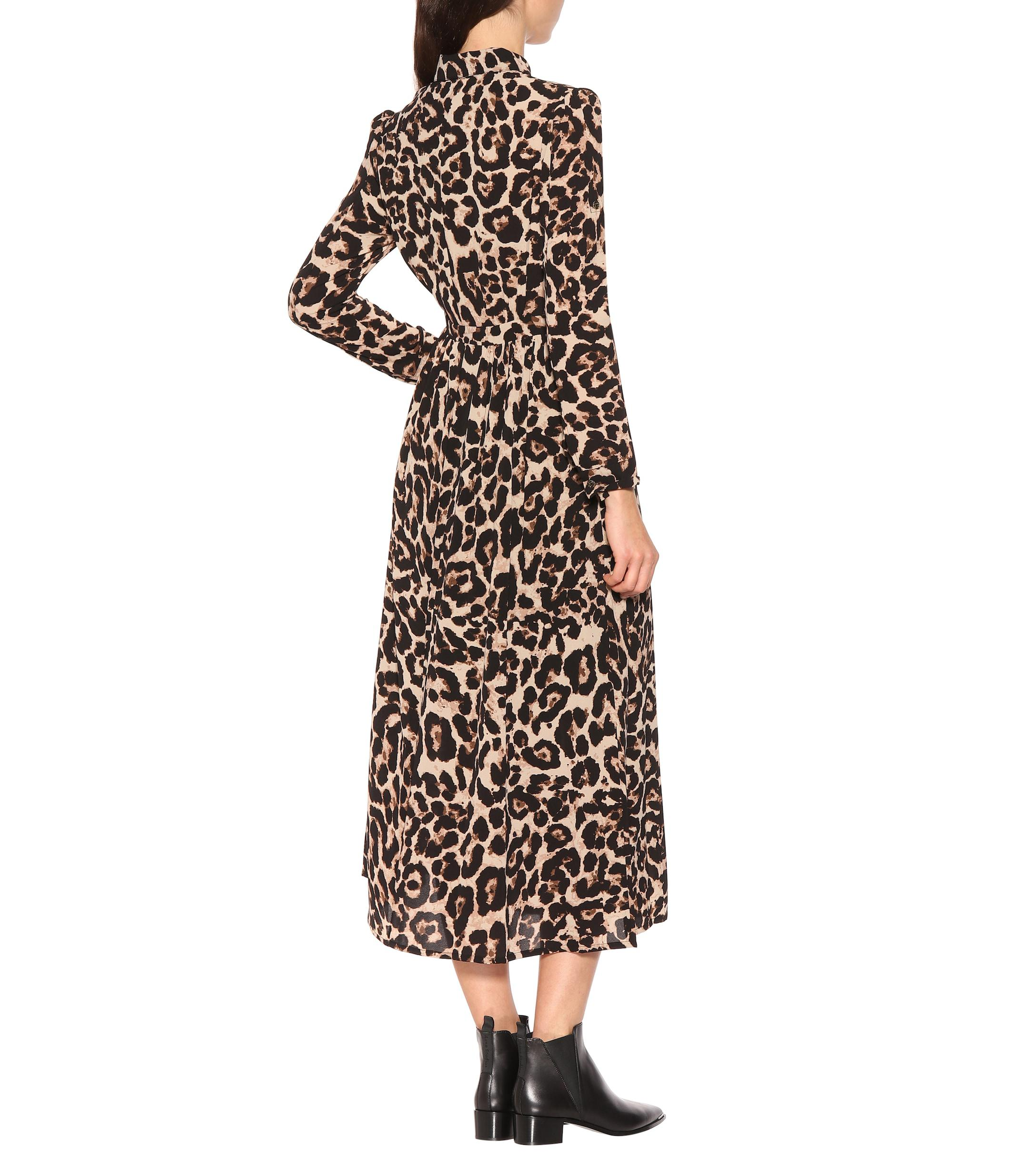854ab1098019 Baum und Pferdgarten - Multicolor Alham Leopard Midi Dress - Lyst. View  fullscreen