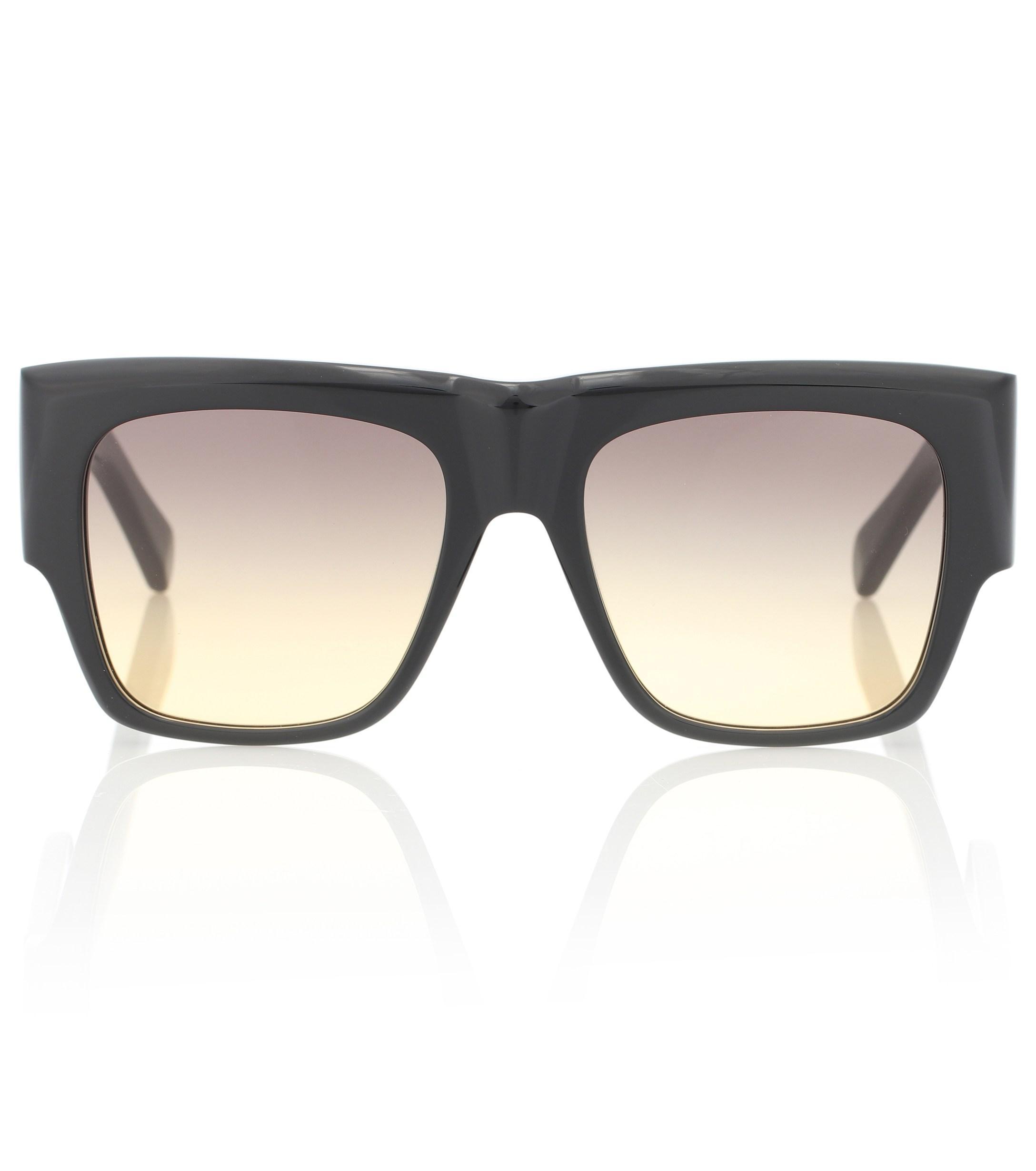 c002d815db Céline - Black Gafas de sol de acetato rectangulares - Lyst. Ver en  pantalla completa
