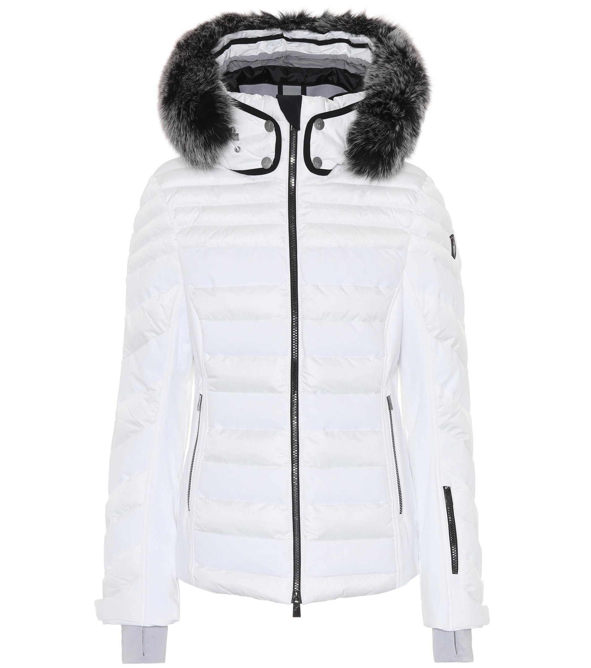 e3d92b3e298 Lyst - Toni Sailer Dioline Fur-trimmed Ski Jacket in White