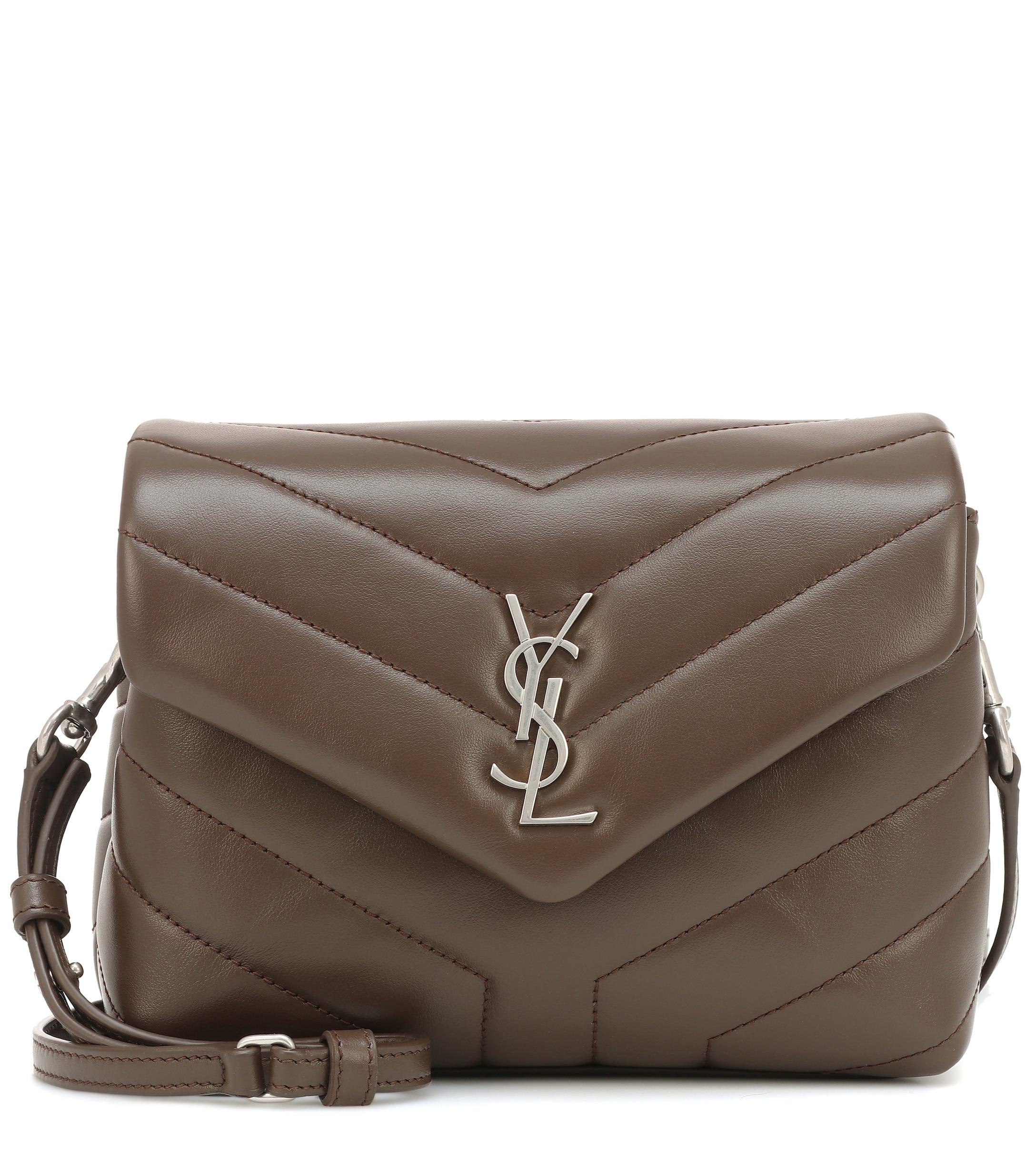 7b051339ed9a Saint Laurent Toy Loulou Leather Shoulder Bag - Lyst