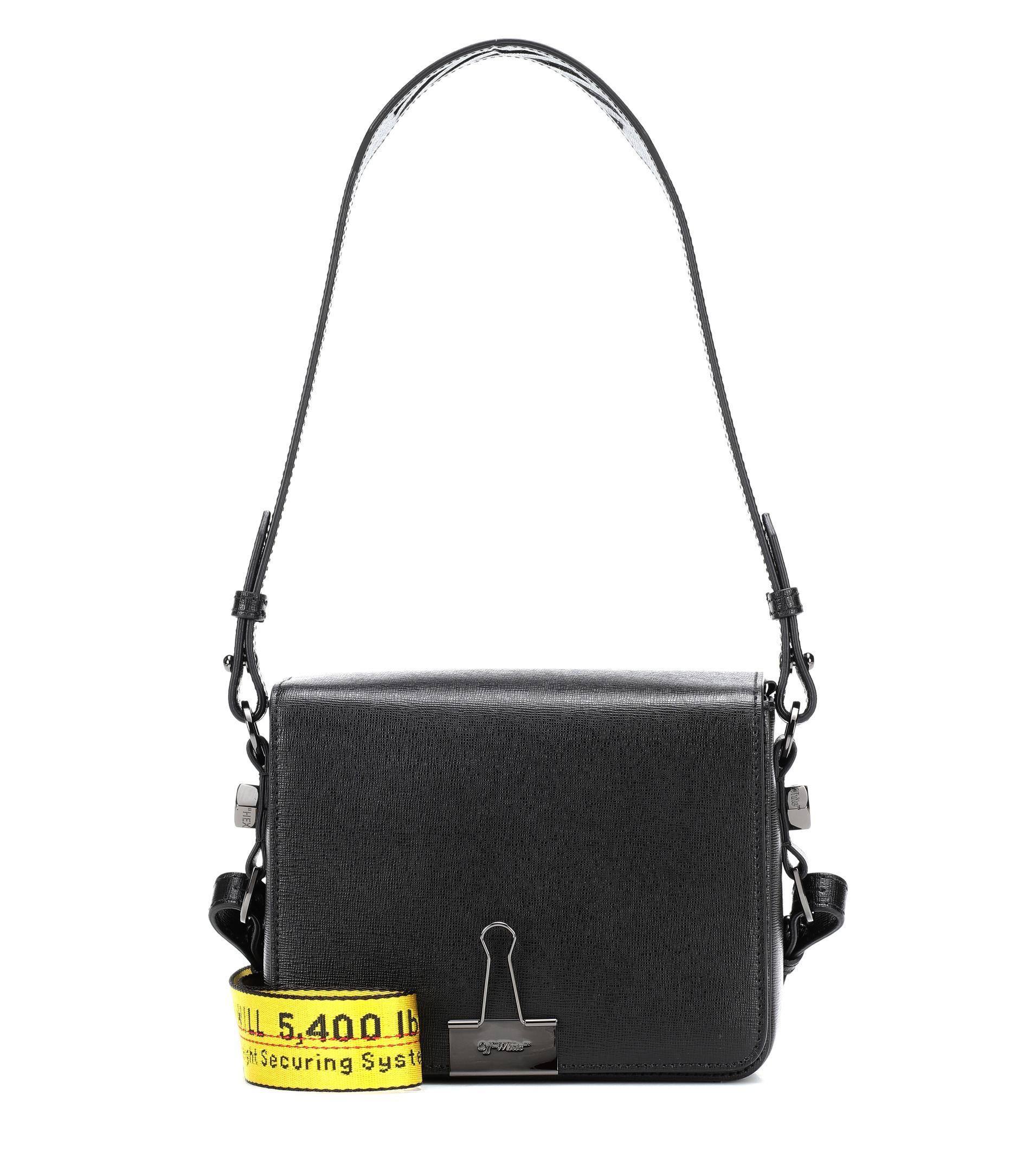 aca7fabb2a1f36 Off-White c/o Virgil Abloh - Black Binder Clip Leather Shoulder Bag -. View  fullscreen