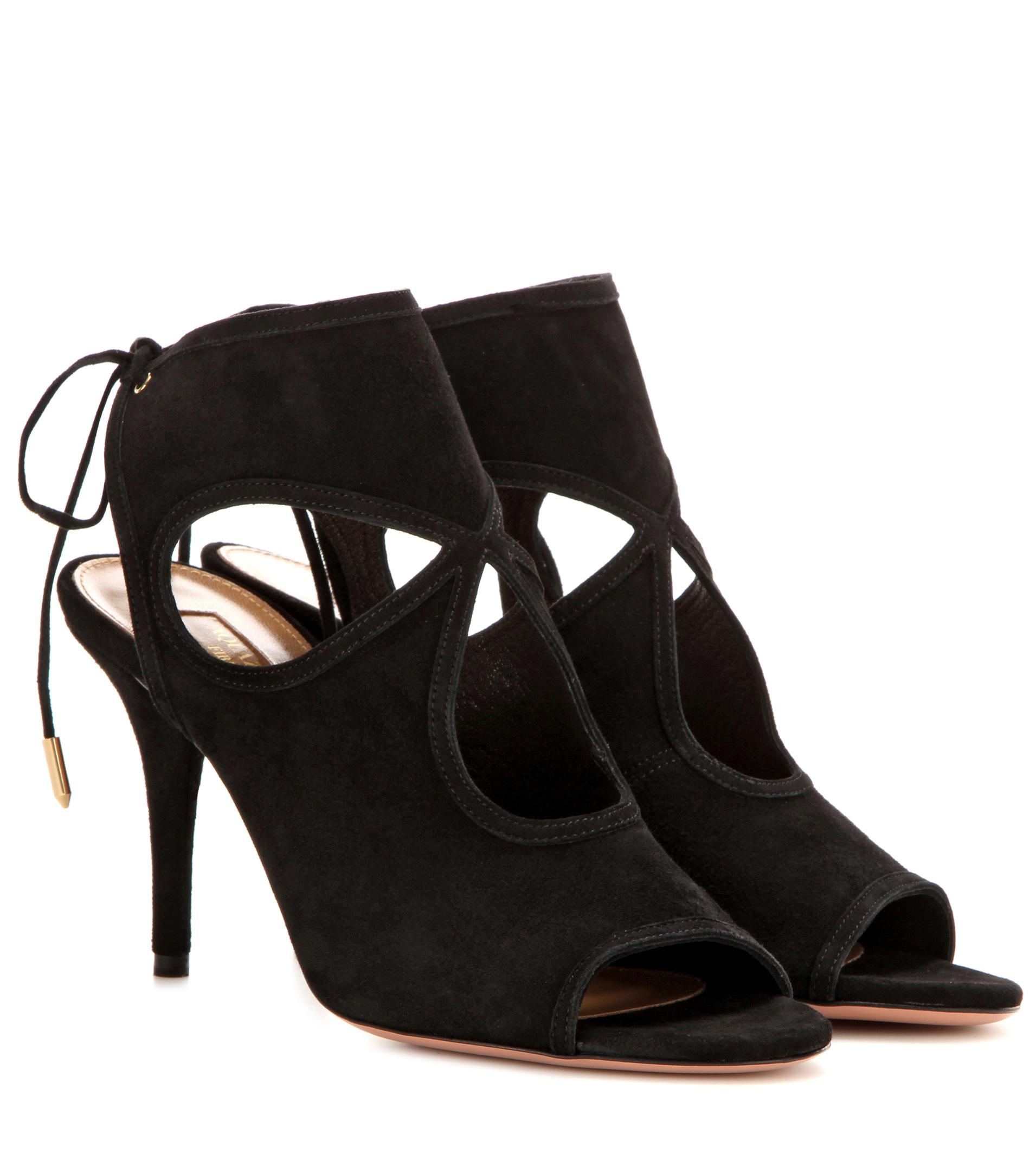 Aquazzura Suede Sexy Thing Sandals w/ Tags clearance extremely free shipping best prices free shipping clearance perfect sale online really cheap price VZwBNoEq