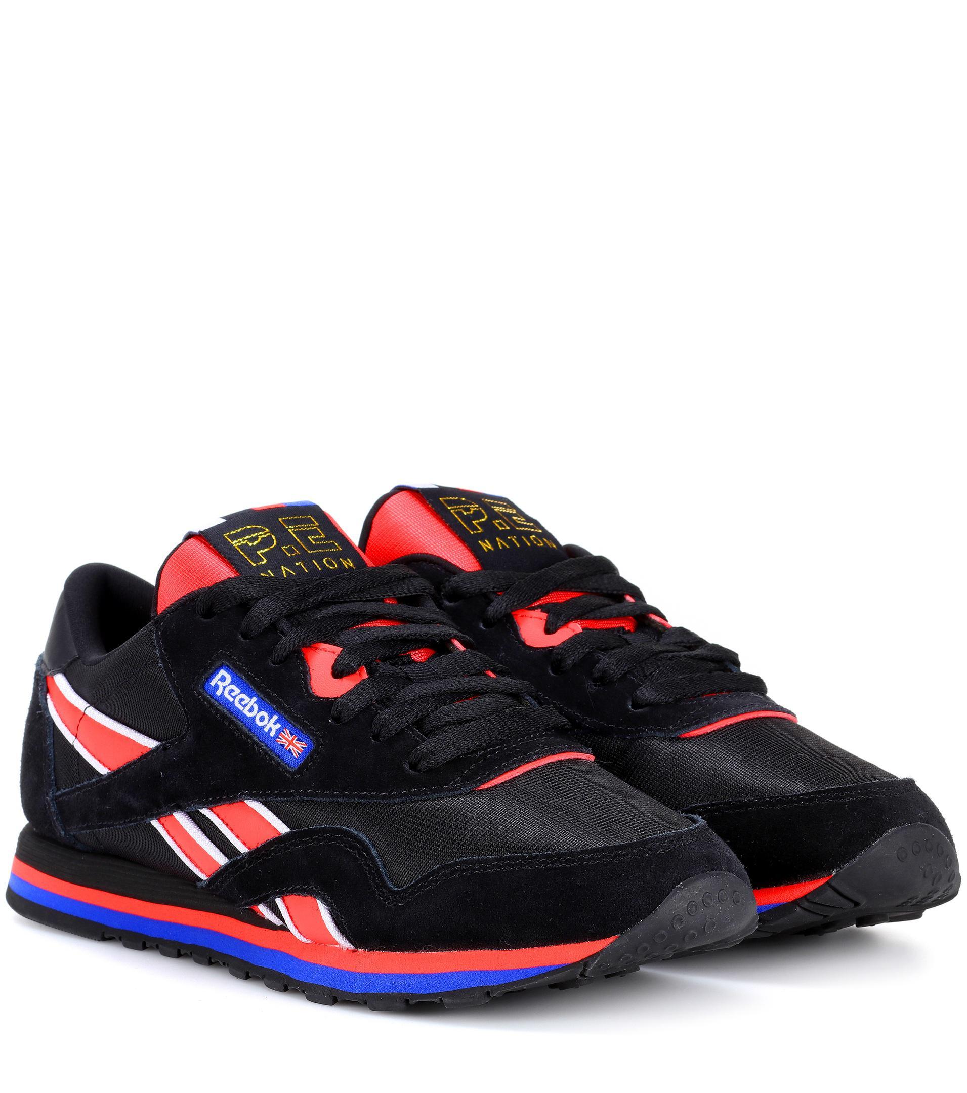 d7bb4de3b42110 Reebok X P.e Nation Classic Nylon Sneakers in Black - Lyst