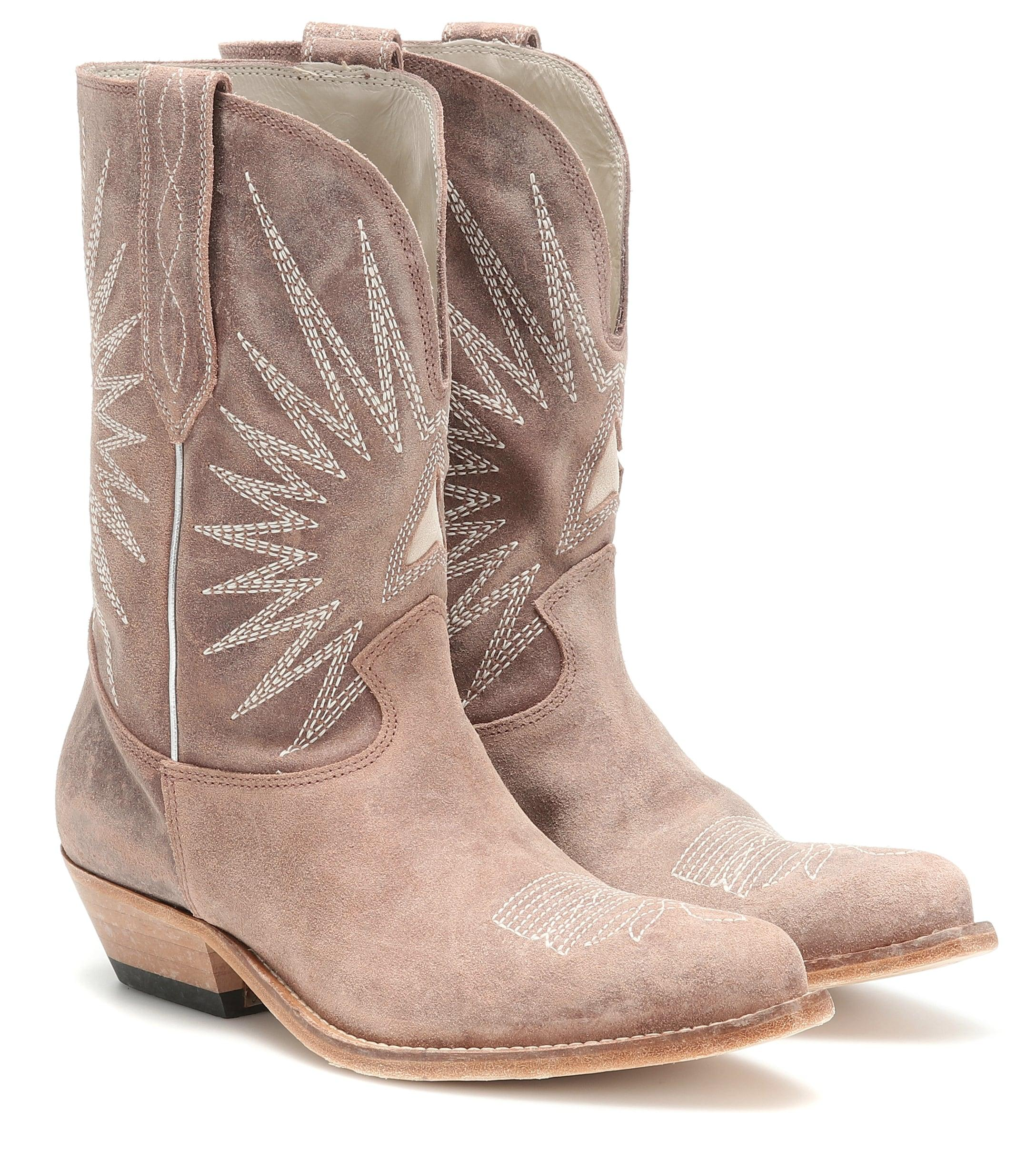 c1c62cefd3a Golden Goose Deluxe Brand - Natural Wish Star Leather Cowboy Boots - Lyst