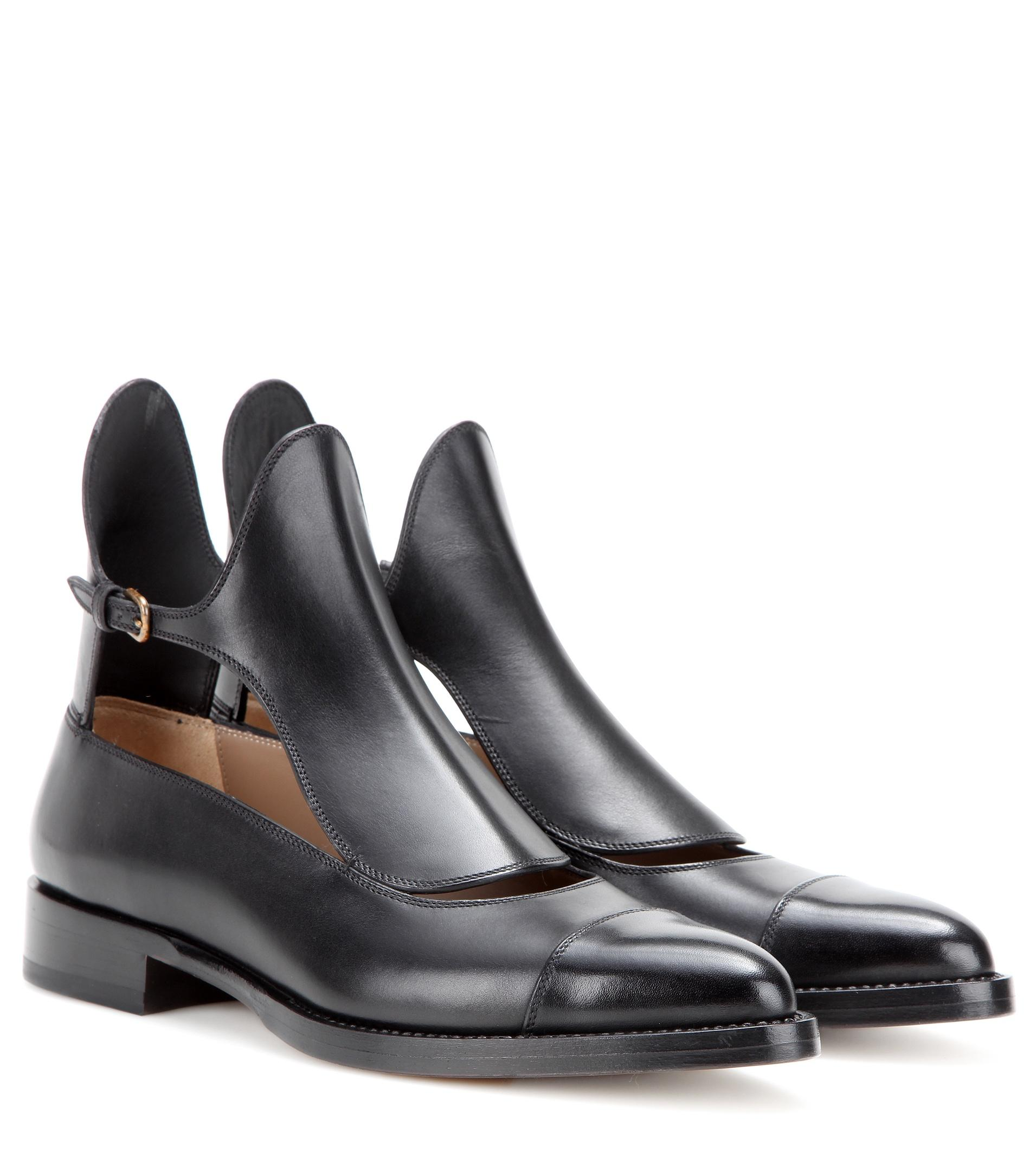 francesco russo cut out leather ankle boots in brown lyst