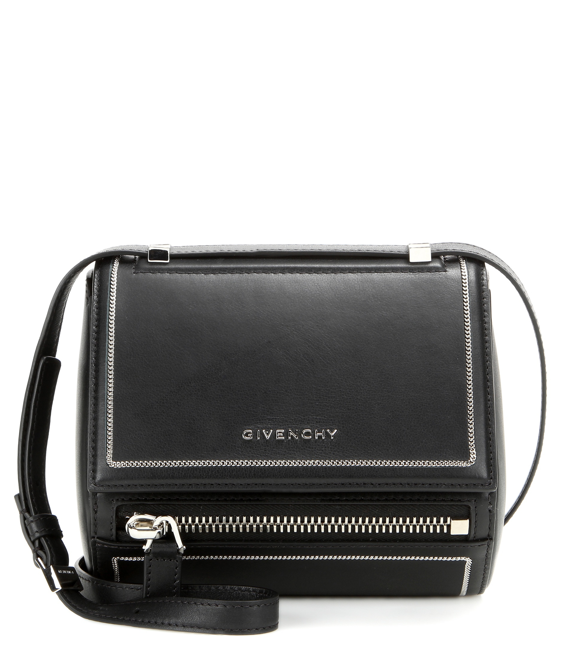 Givenchy Pandora Box Mini Leather Shoulder Bag In Black Lyst