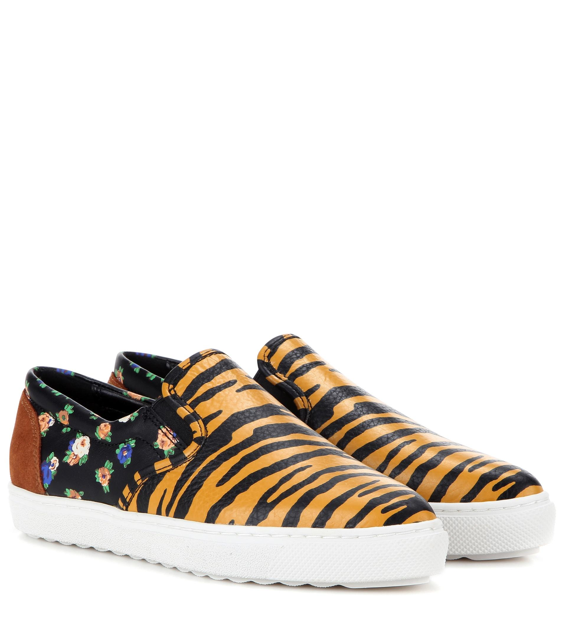 Coach Printed Leather Slip-on Sneakers