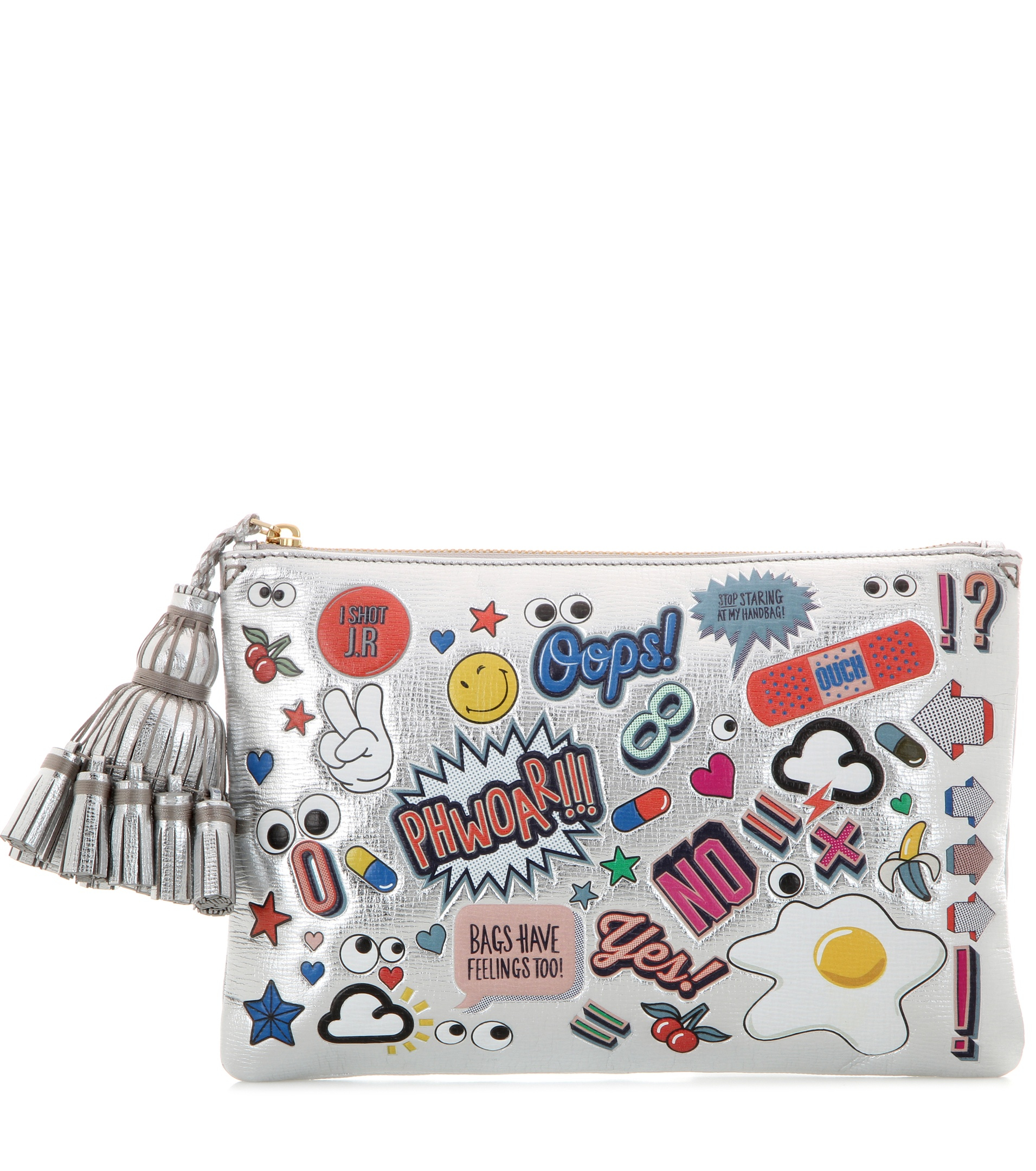 Anya hindmarch All Over Stickers Georgiana Metallic
