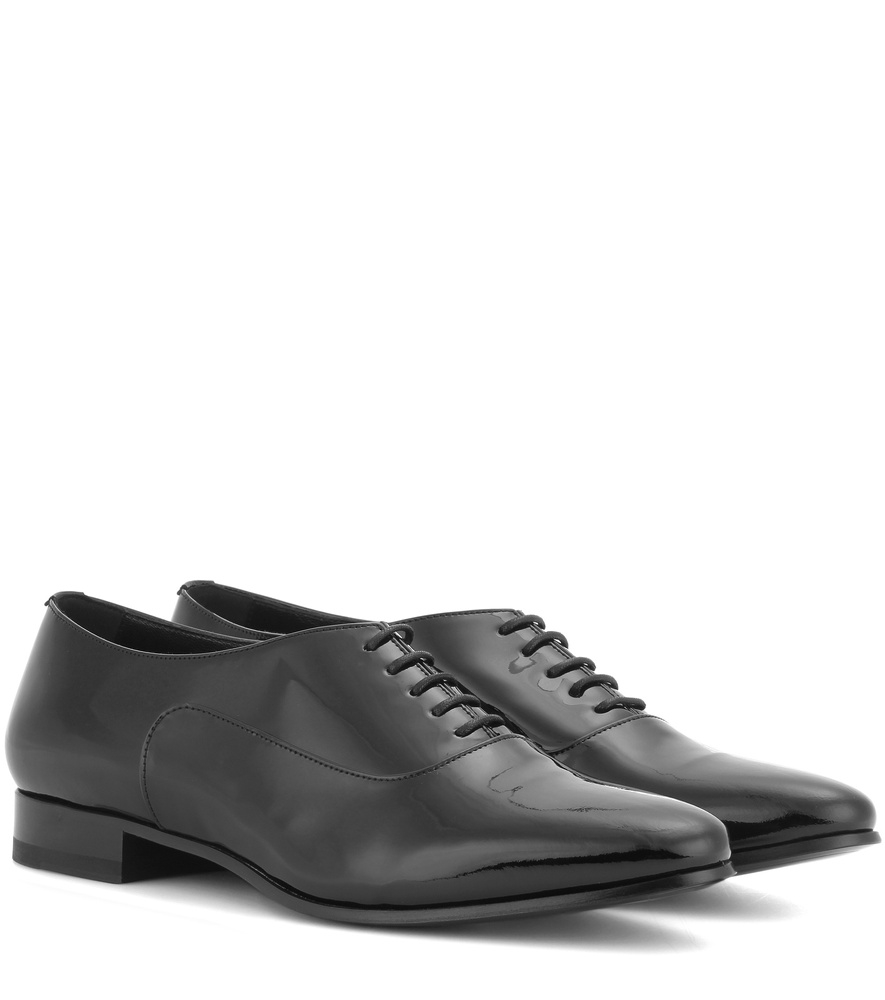 laurent lulu 20 patent leather oxford shoes in black
