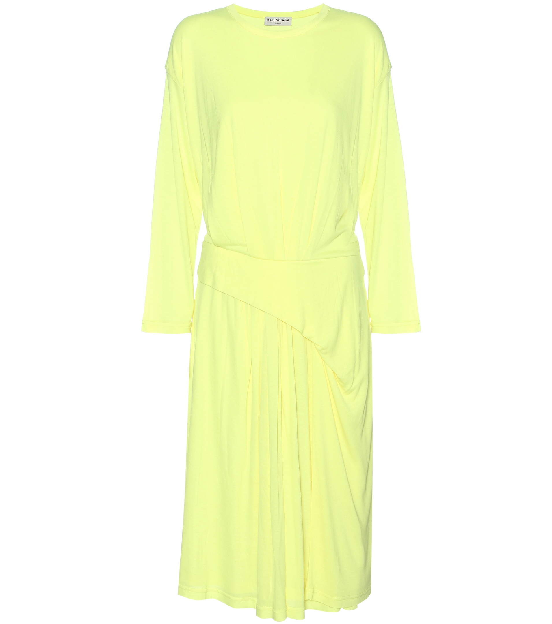 Balenciaga Jersey Dress In Yellow Lyst