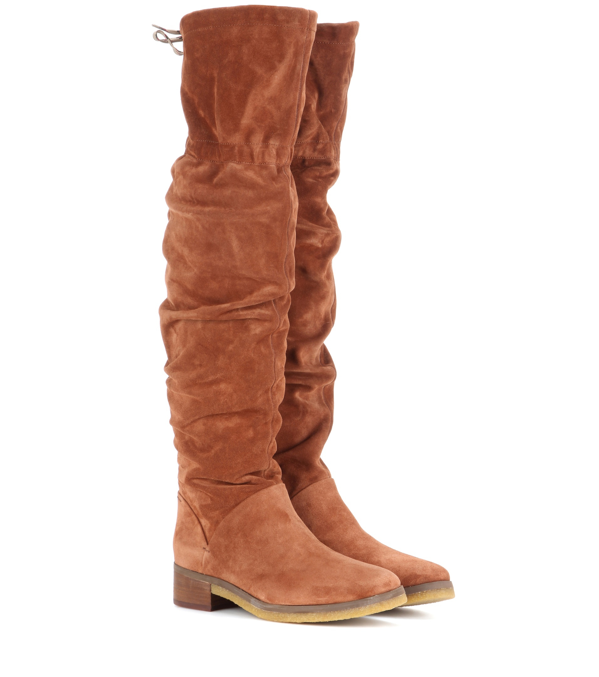 see by chlo 233 suede the knee boots in brown lyst