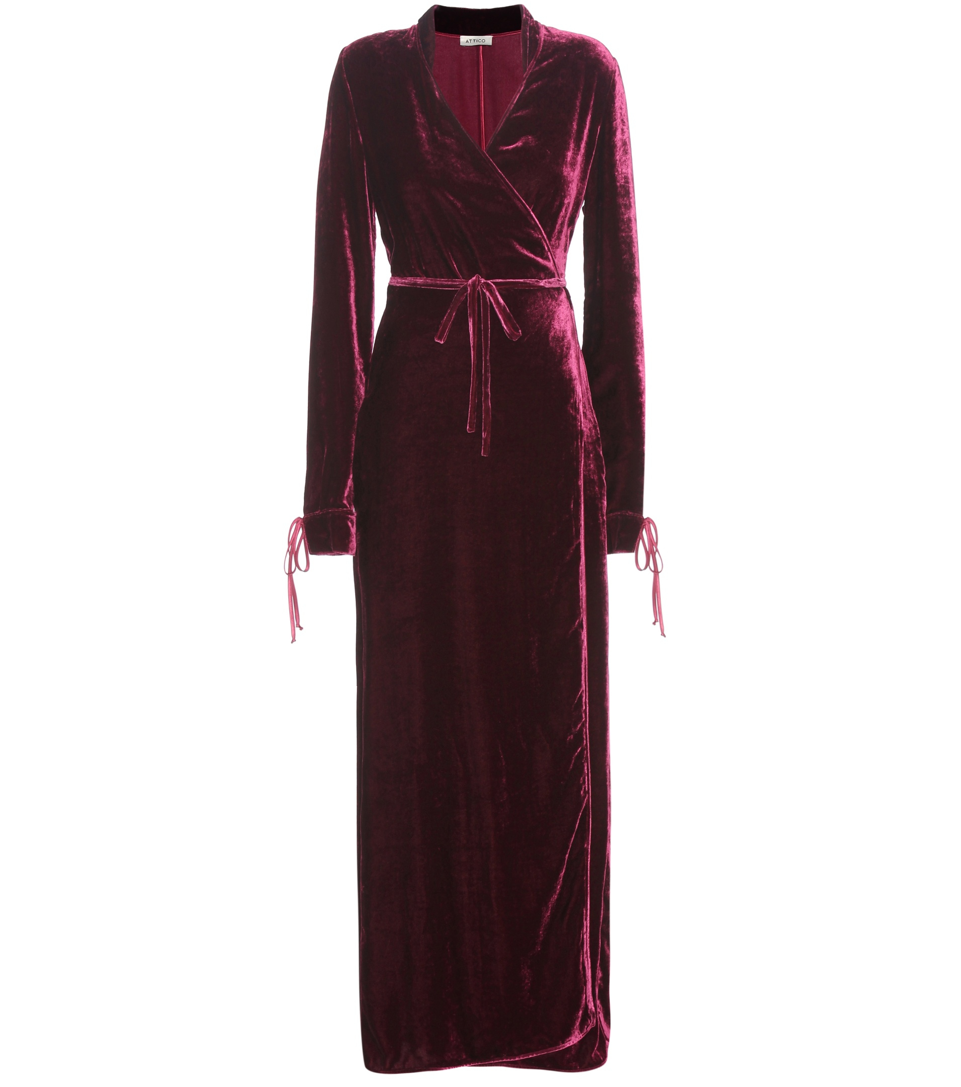 Lyst Attico Velvet Dress In Red