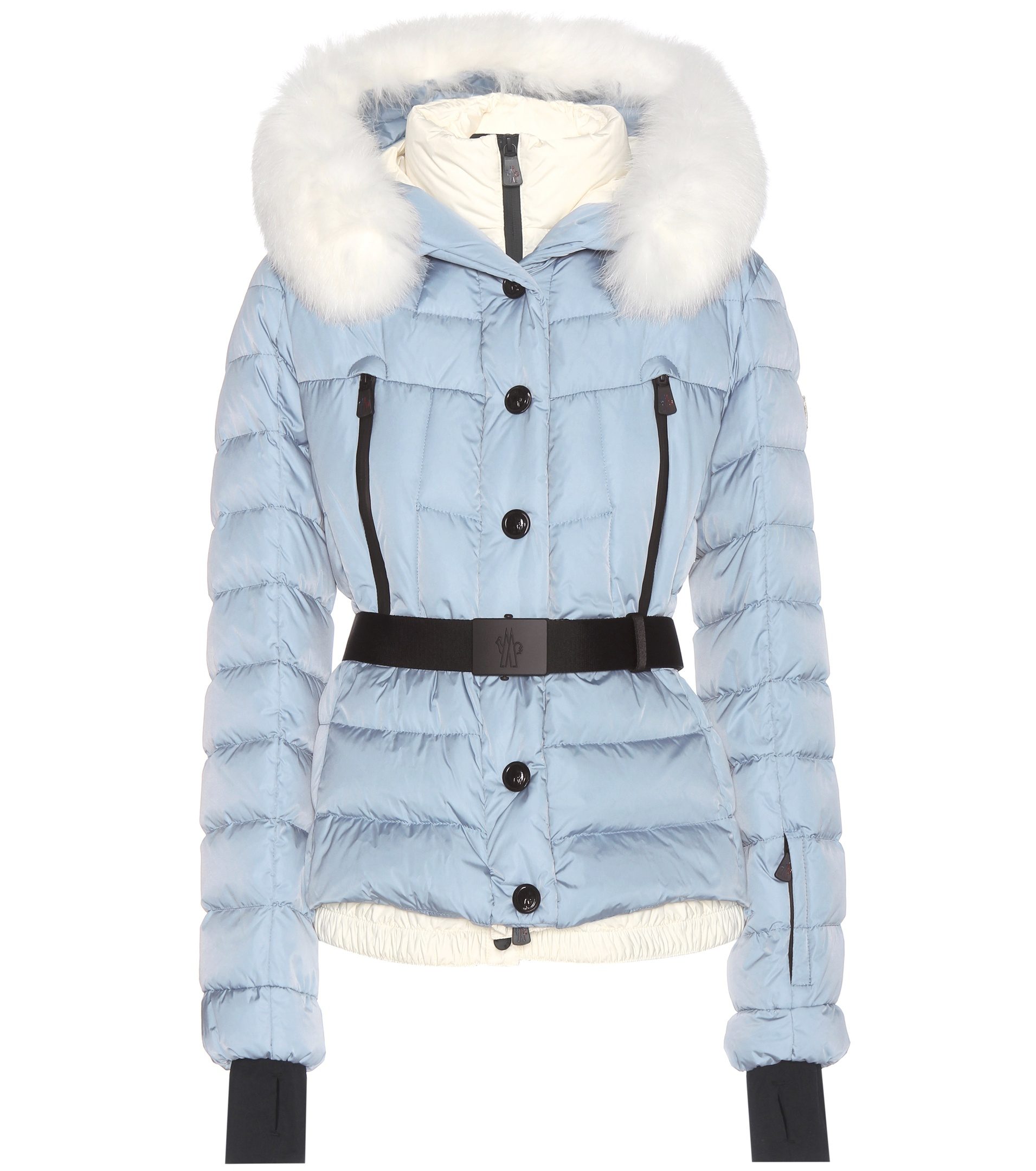 a4555d8a2 Lyst - Moncler Grenoble Beverley Fur-trimmed Down Jacket in Blue