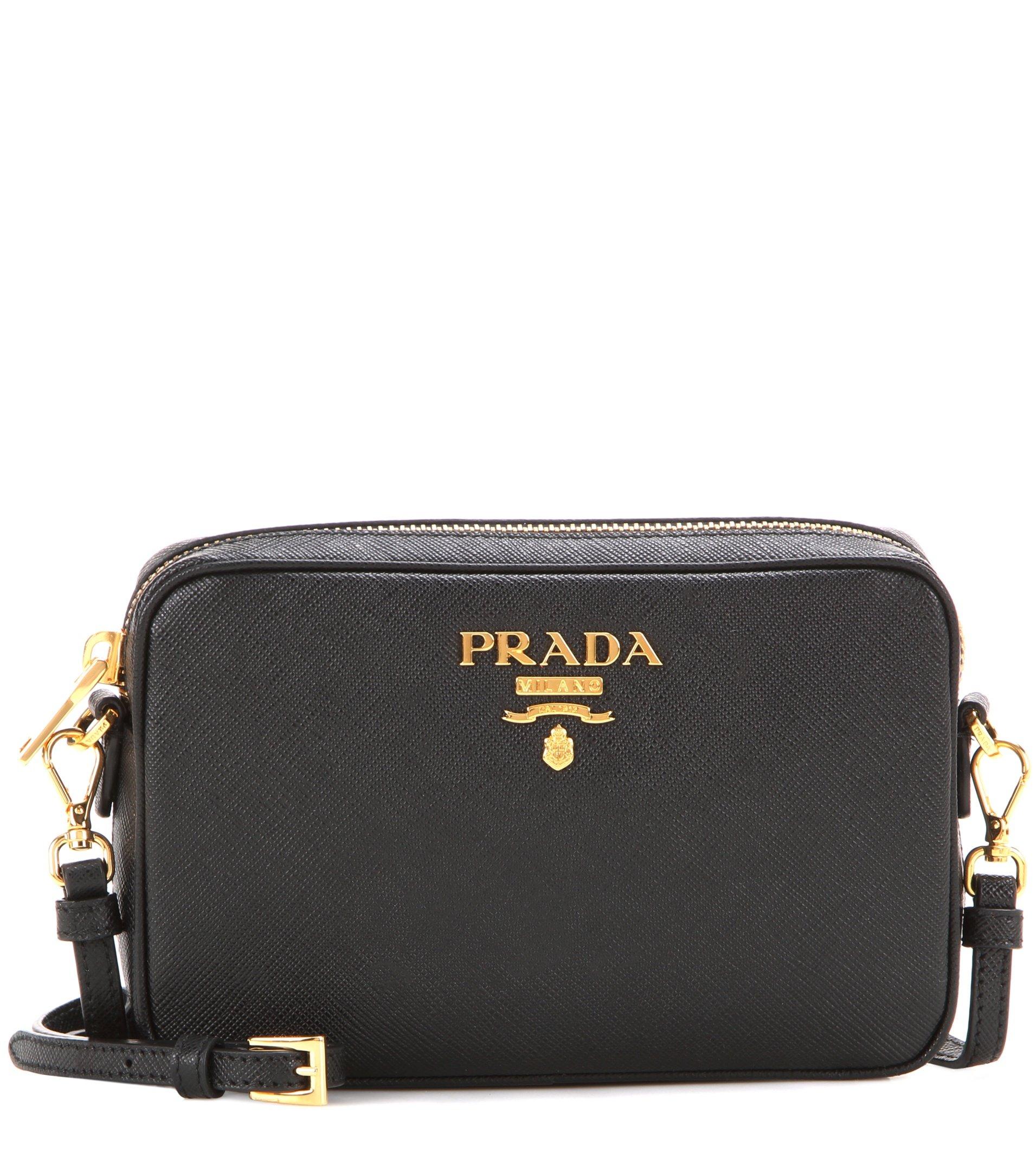 Lyst Prada Saffiano Leather Crossbody Bag In Black