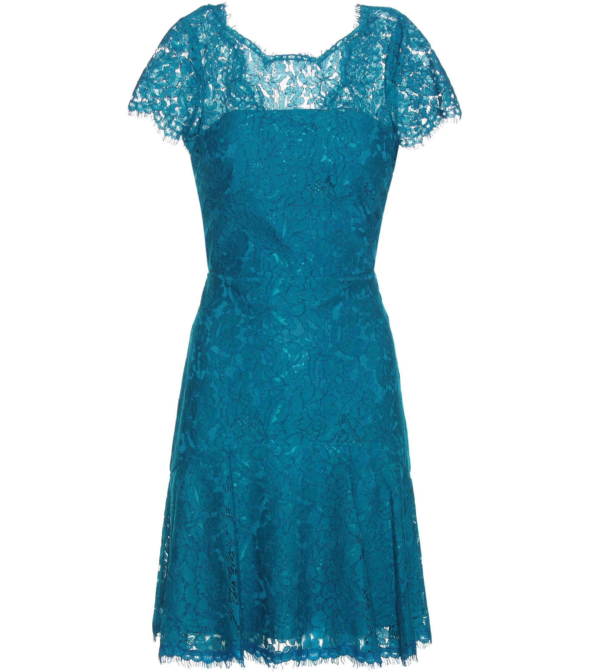 diane von furstenberg fifi lace dress in blue lyst. Black Bedroom Furniture Sets. Home Design Ideas