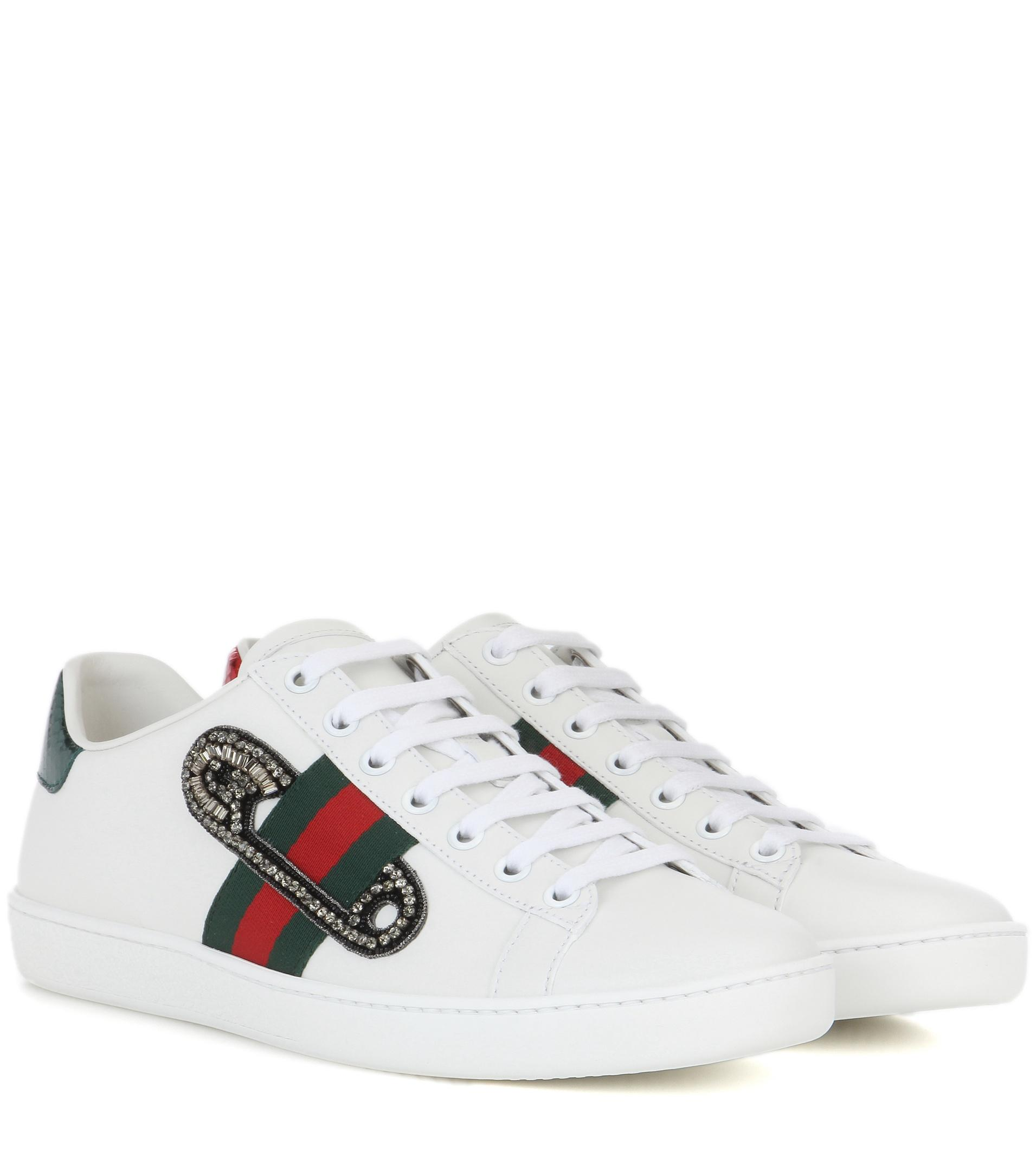 GUCCI Safety Pin Trainers White K8334
