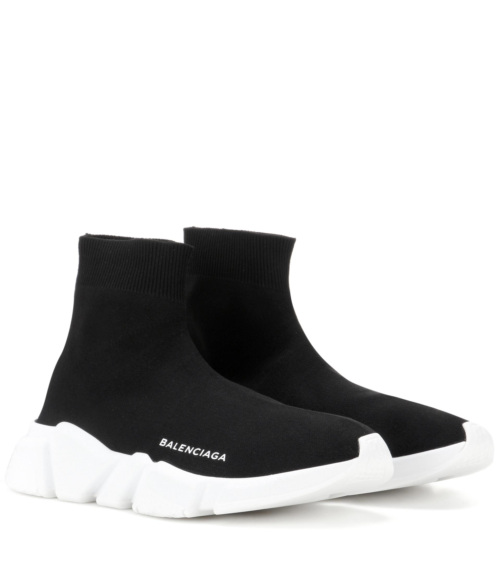 Black Balenciaga Sneakers Lyst Speed Stretch In vnX0nFqWSP
