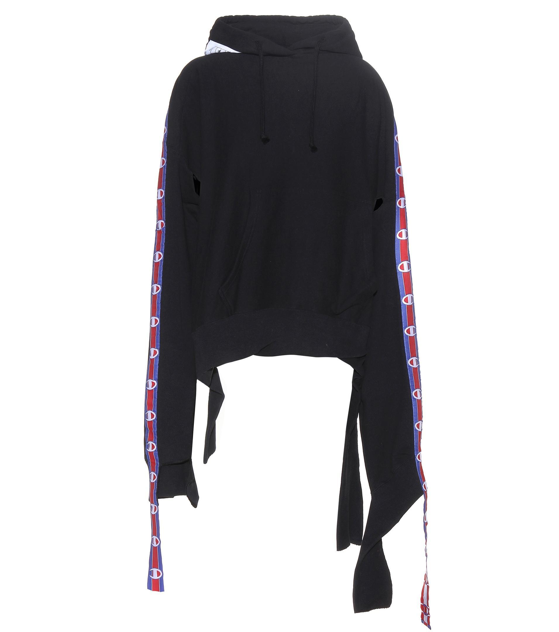 1b783abf6899 Lyst - Vetements X Champion Cotton-blend Hoodie in Black