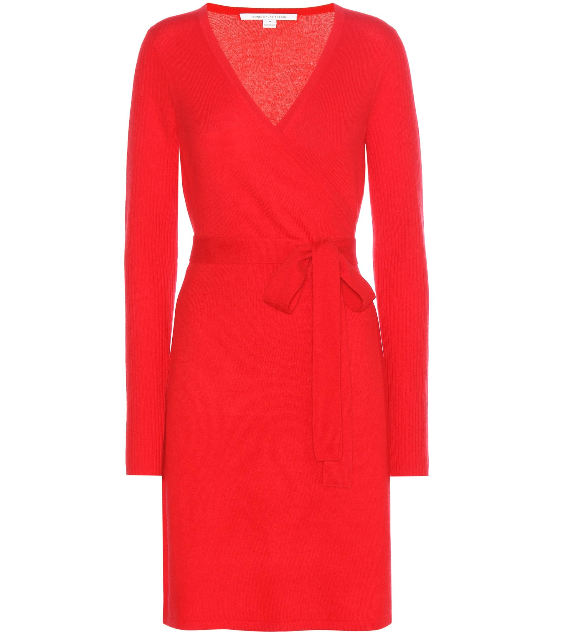 Ginia Cashmere Gowns Wrap Gown: Diane Von Furstenberg Kerry Wool And Cashmere Wrap Dress