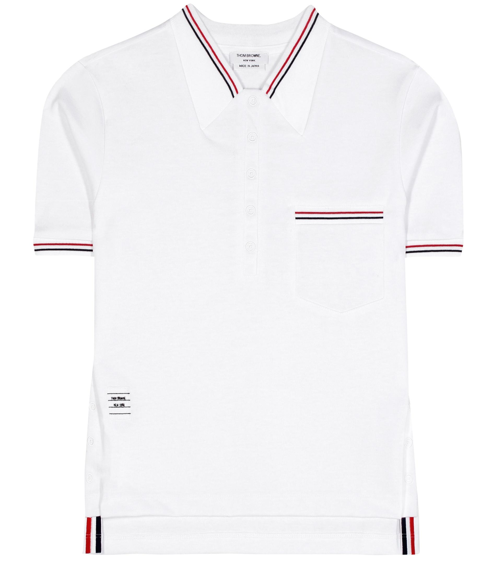 Lyst thom browne cotton t shirt in white for Thom browne t shirt
