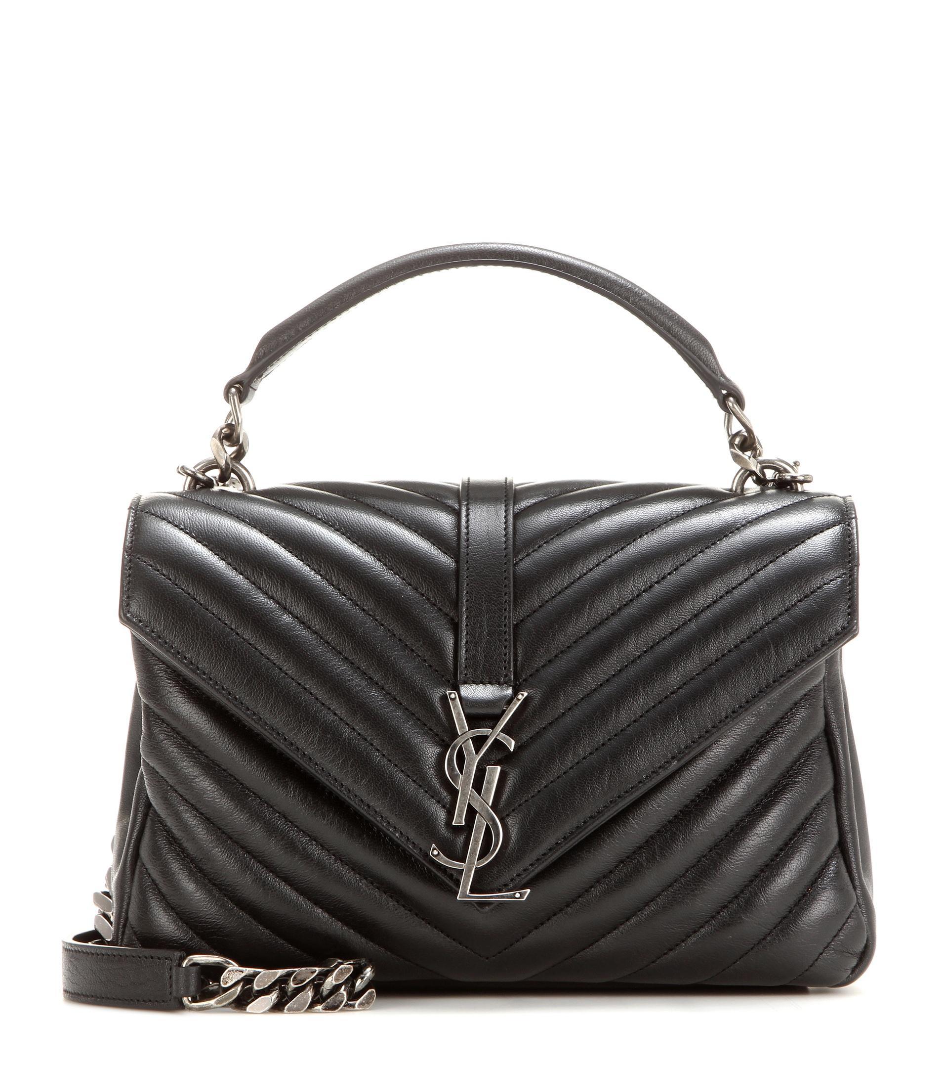 Lyst Saint Laurent Classic Monogram Quilted Leather